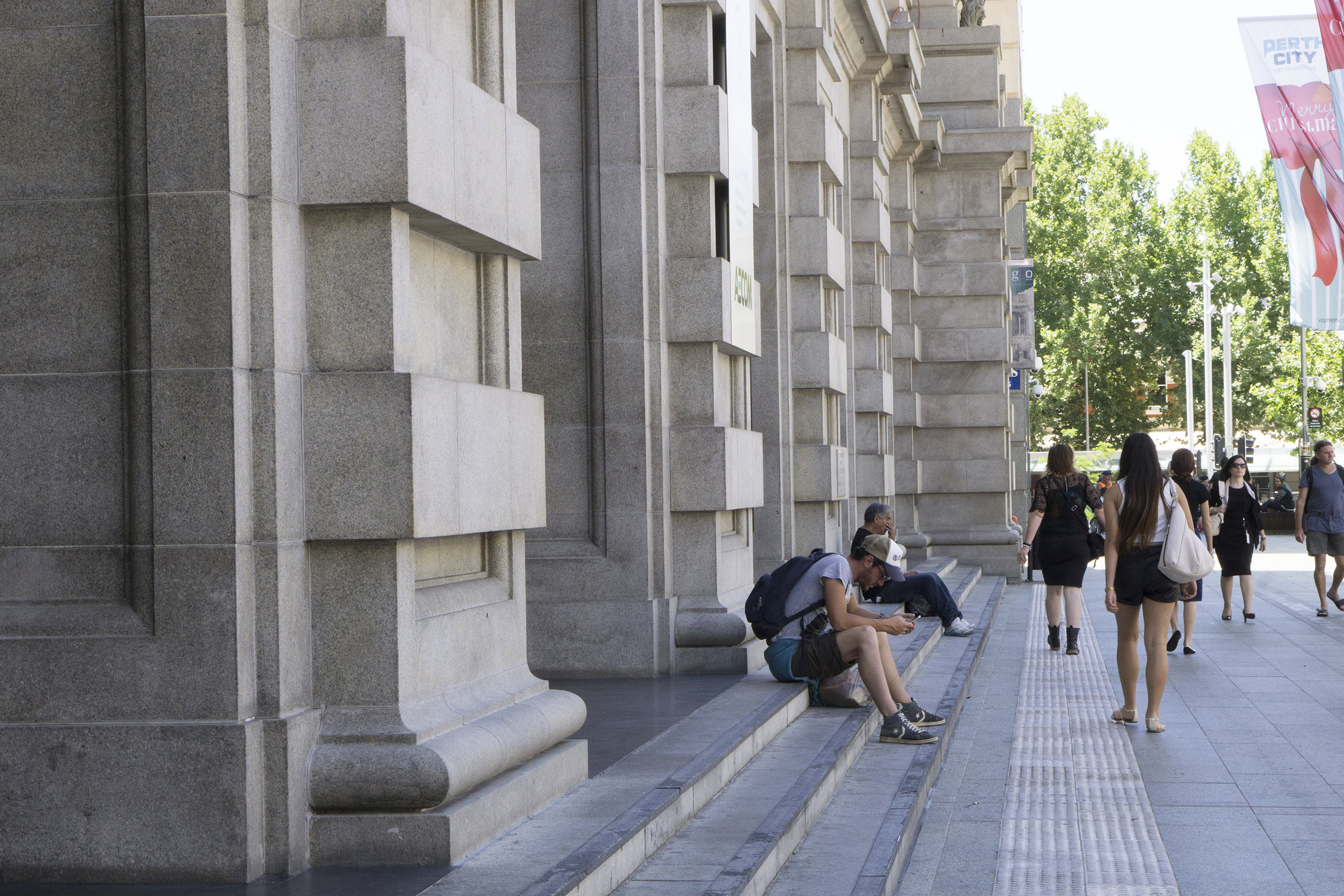 Figs 13, 14: Just siting and relaxing in Forrest Place