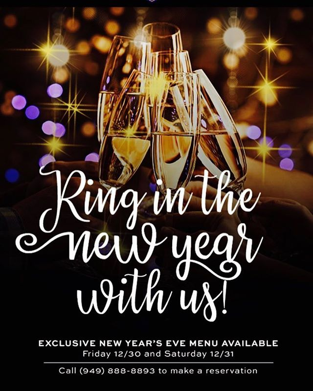 Come celebrate the #newyear with us!!! 🎉🍾#ocevents #hugsandkisses #champagne #beer #ringinginthenewyear #2017 #food #dinein #dinner #midnightkiss #canyon #grill #ornagecounty #missionviejo #cotodecaza #dresstoimpress