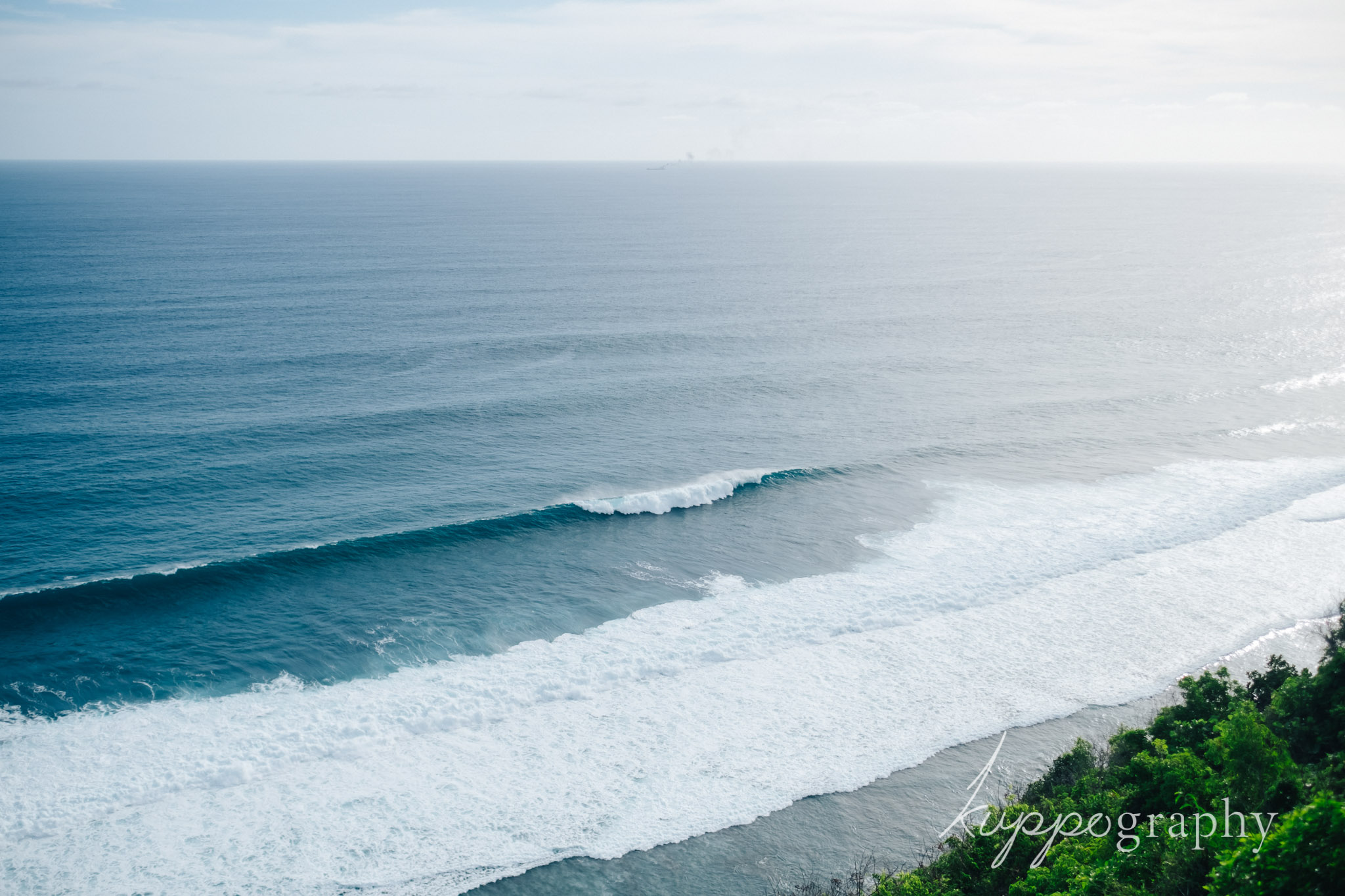 クリフエッジカバナから見える海