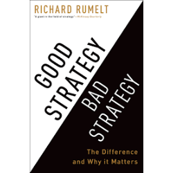 "Good Strategy/Bad Strategy, Richard Rumelt - Verdict: A profoundly insightful and practical guide for understanding and deploying strategy. Learn Rumelt's ""Kernel of Strategy"" framework that I use to structure almost every challenge I face. (5/5)"