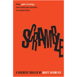 Scramble, Marty Neumeier - Verdict: An animated fable on the strategy design process. This book is excellent to understand agile strategy process through the eyes of a fictitious, but at the same time authentic, CEO who is facing a considerable challenge. (5/5)