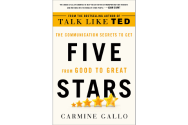 Five StarsCarmine Gallo - The book contains a collection of mindsets, methods and frameworks to improve your speaking skills — a useful handbook for speakers, presenters or to anyone who talks with other people really.(5/5)