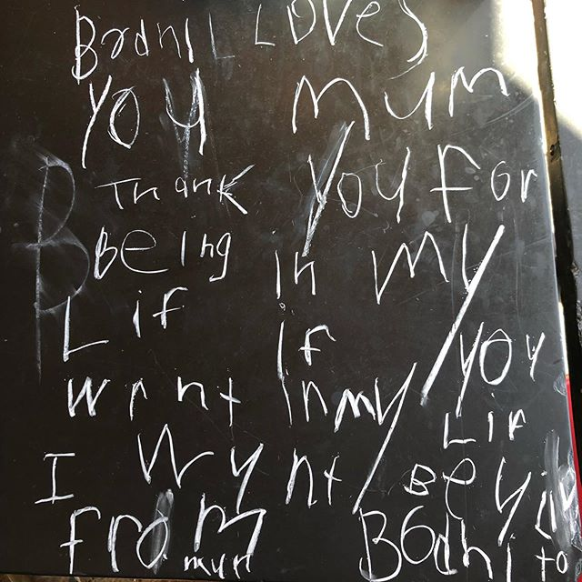"Love Notes. Damn I'm doing SOMEthing right. ""Bodhi loves you mum. Thank you for being in my life. If you weren't in my life, I wouldn't be alive. From Bodhi To Mum"" (Had to explain she'd be alive... just maybe in a different context ☺️) @helpingmusicgrow  #soulmate #beingthevessel #soulfamily"