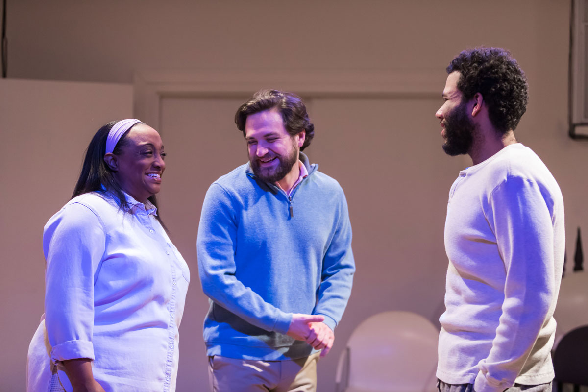 Casaundra Freeman (Natalie), Daniel Helmer (Joe), and Dan Johnson (Redelmo)