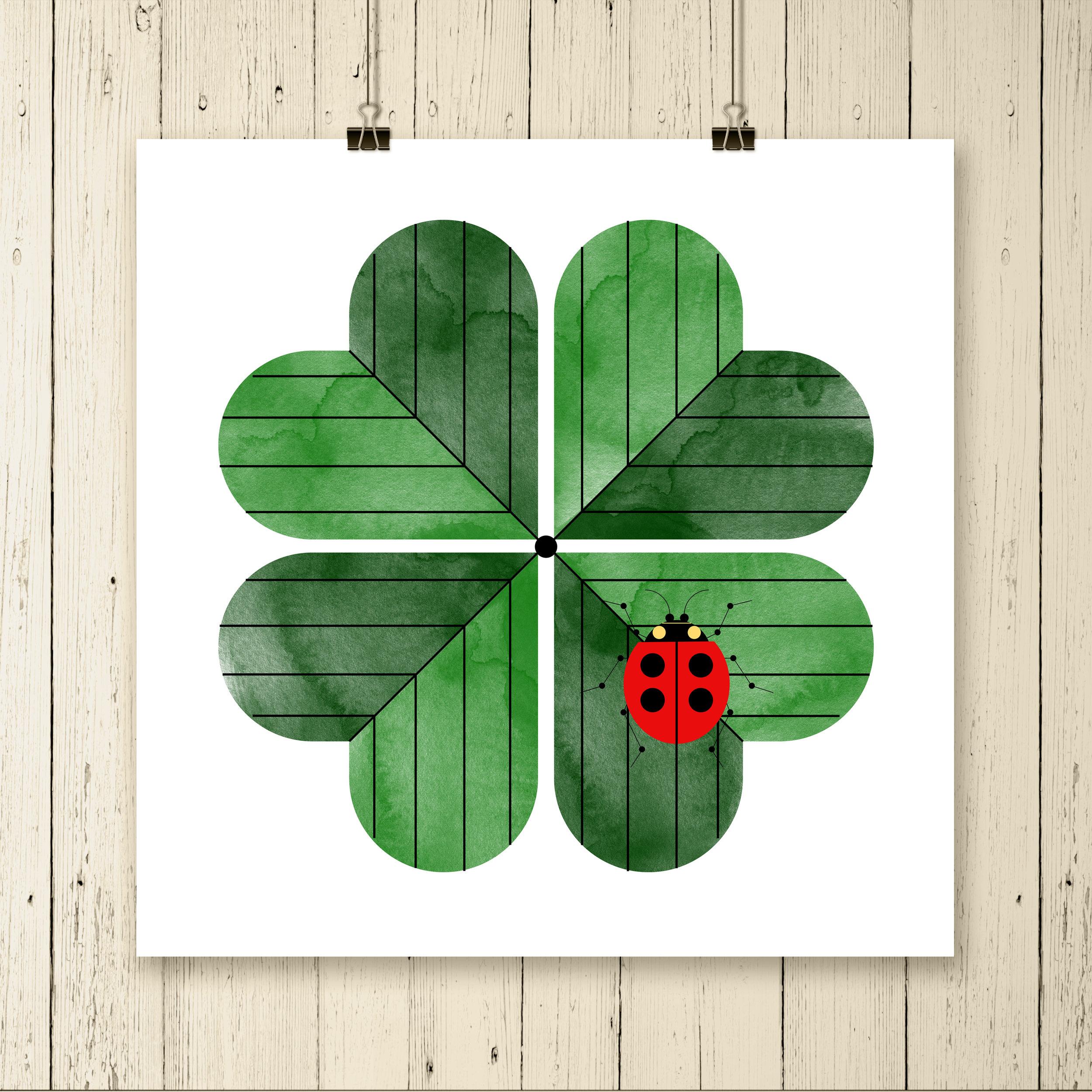 Lady Bug on Four Leaf (Clip Square).jpg