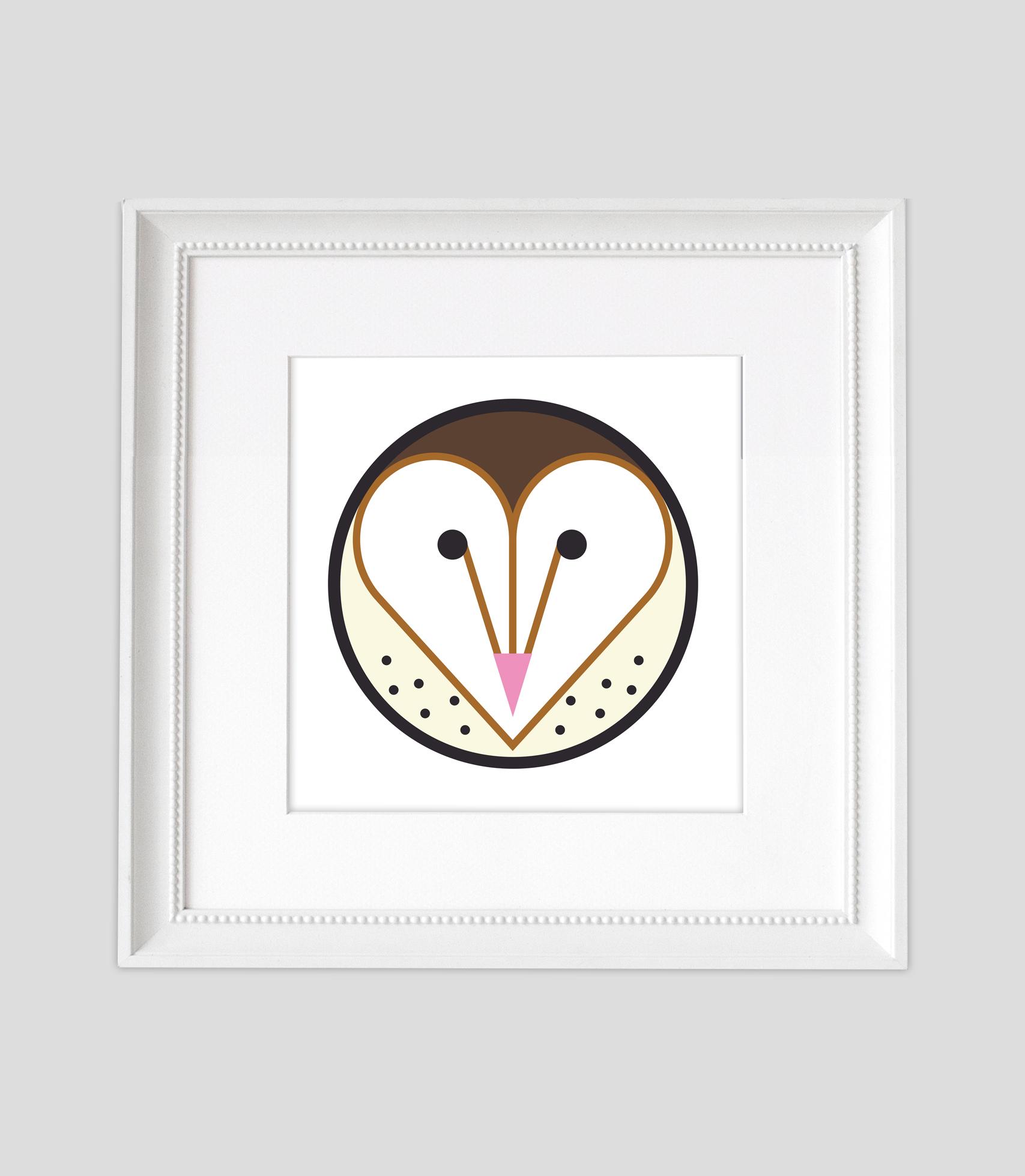 Barn Owl2 White Framed2.jpg