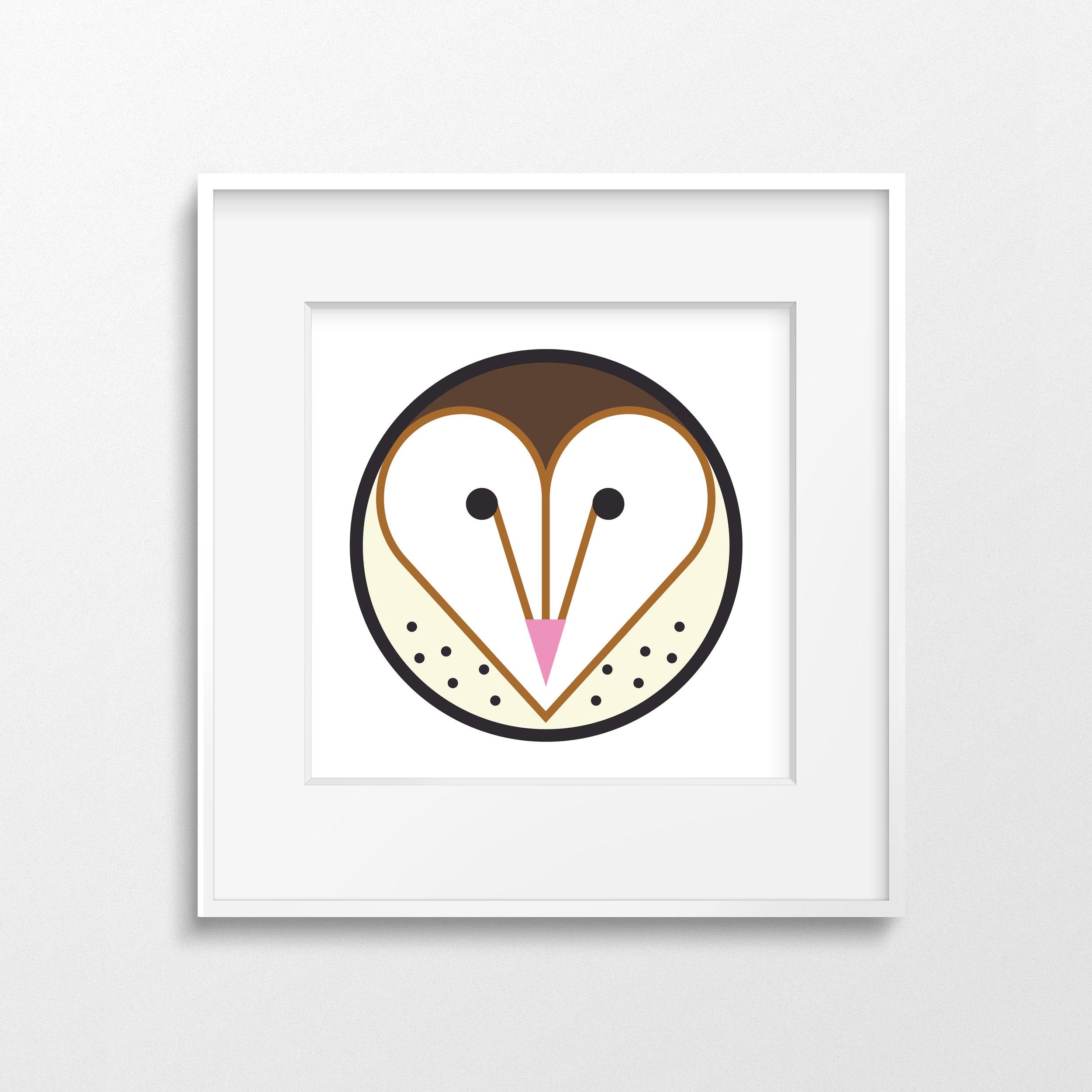 Barn Owl2 White Frame2 (Thin).jpg
