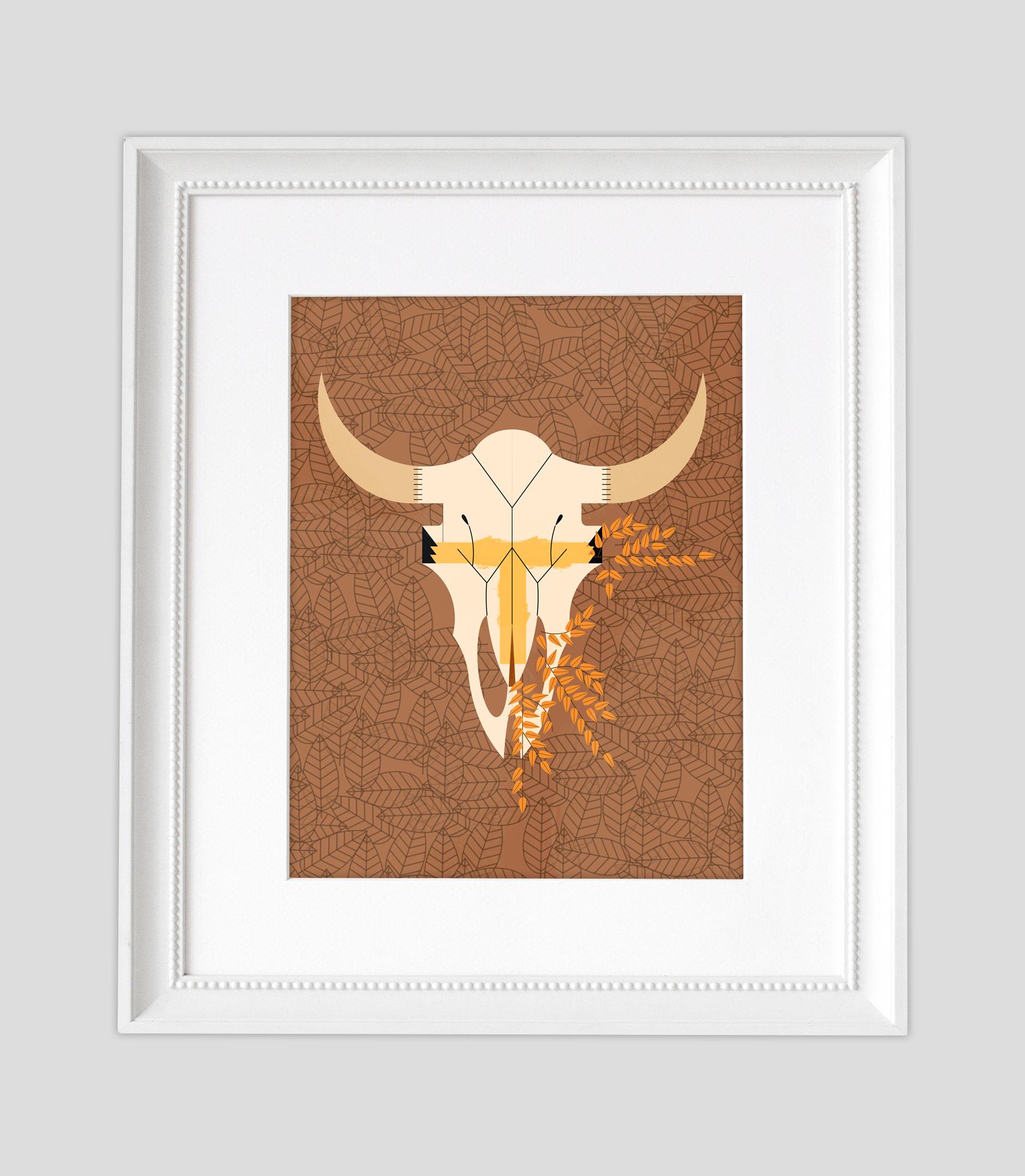 Bison Skull Framed2.jpg