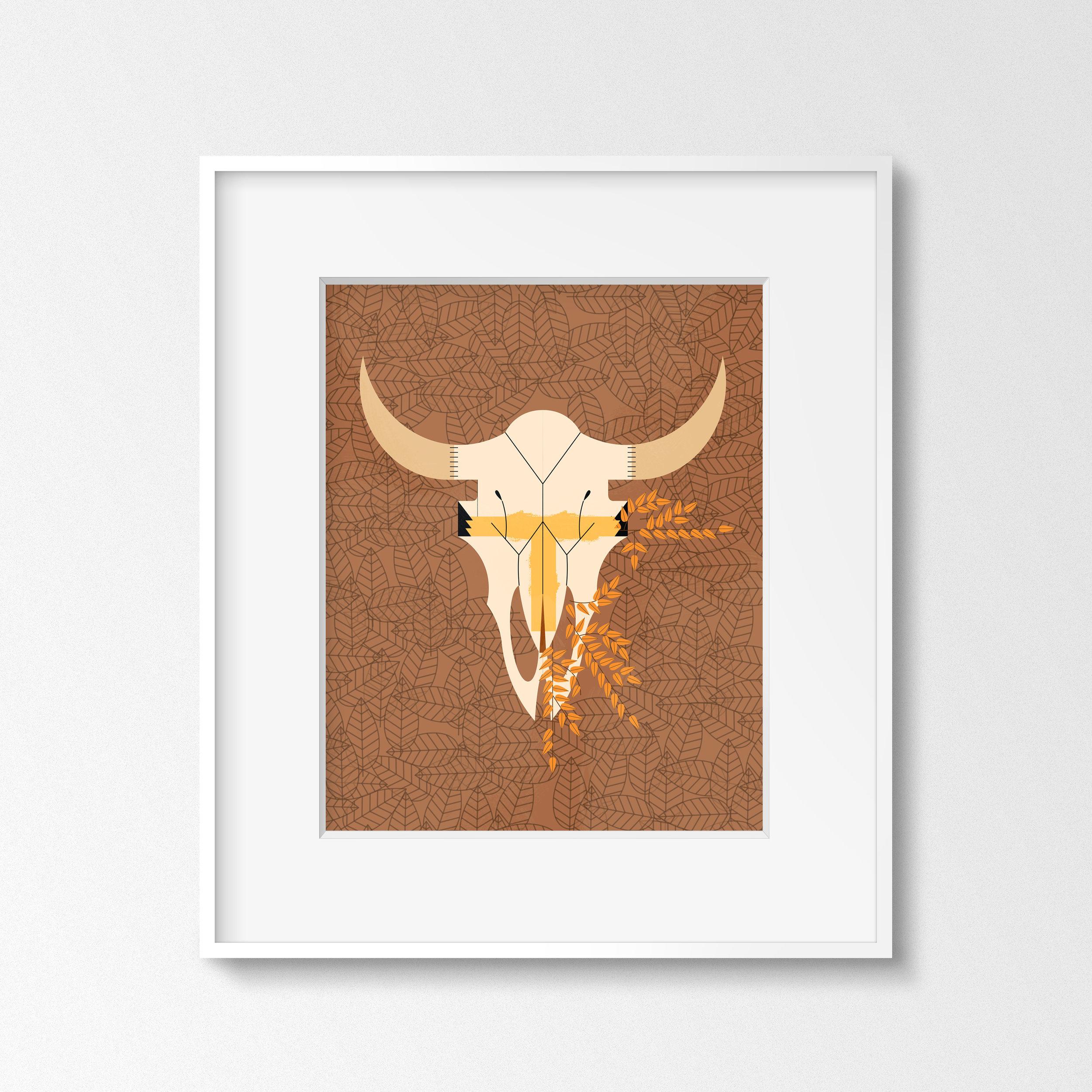 Bison Skull (Thin White Frame).jpg