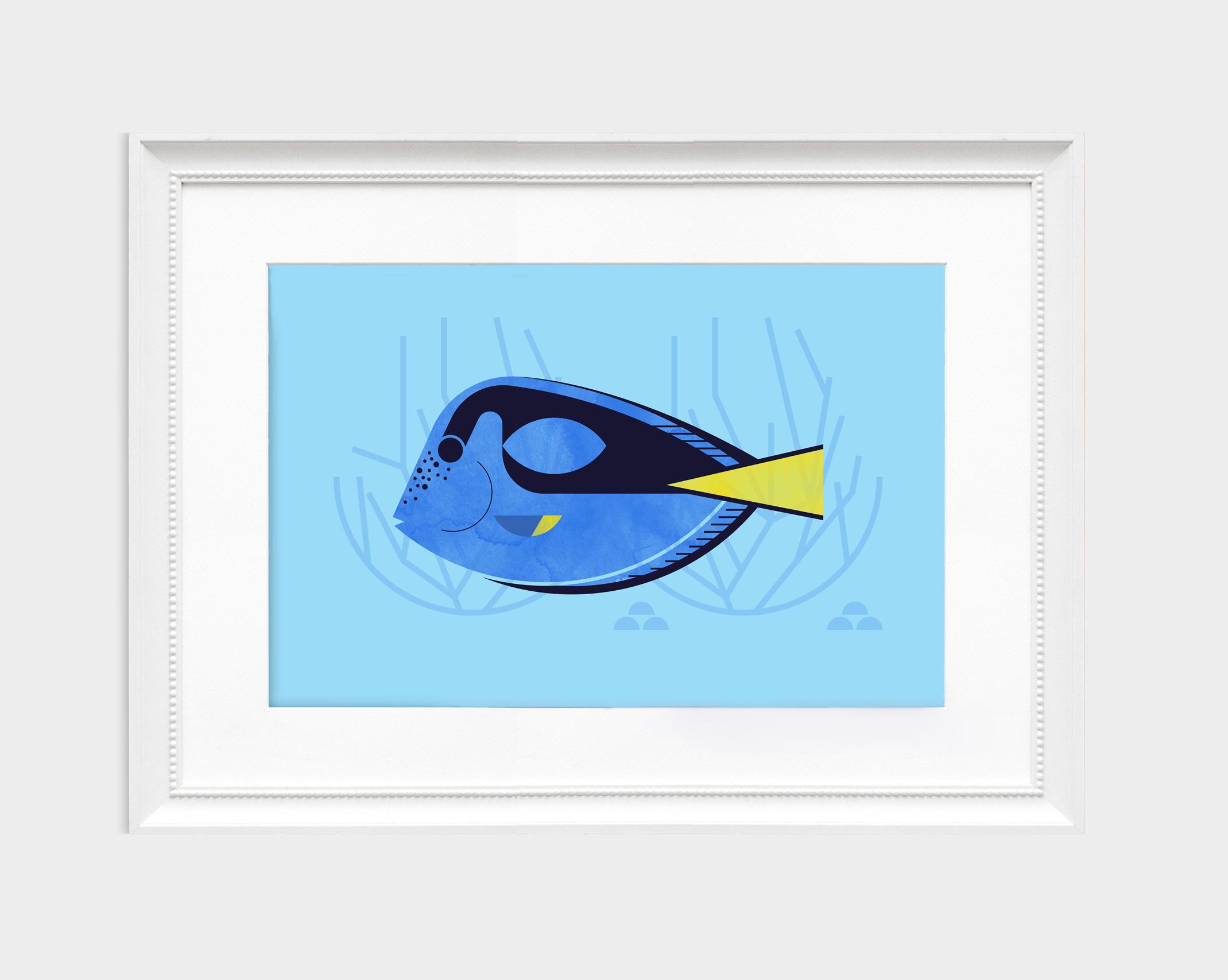 Blue Tang Fish (Framed2).jpg