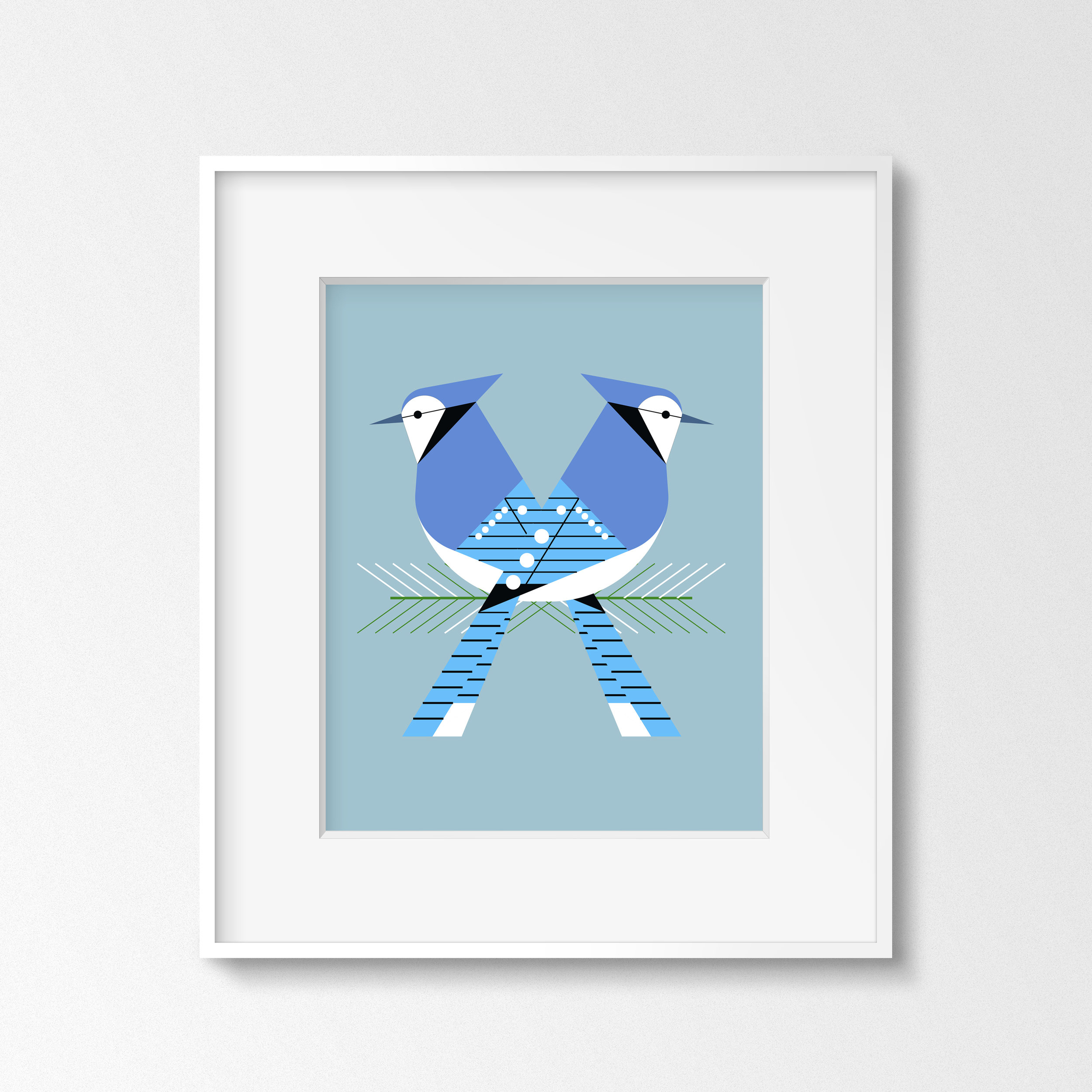 Bluejay Love (Thin White Frame).jpg