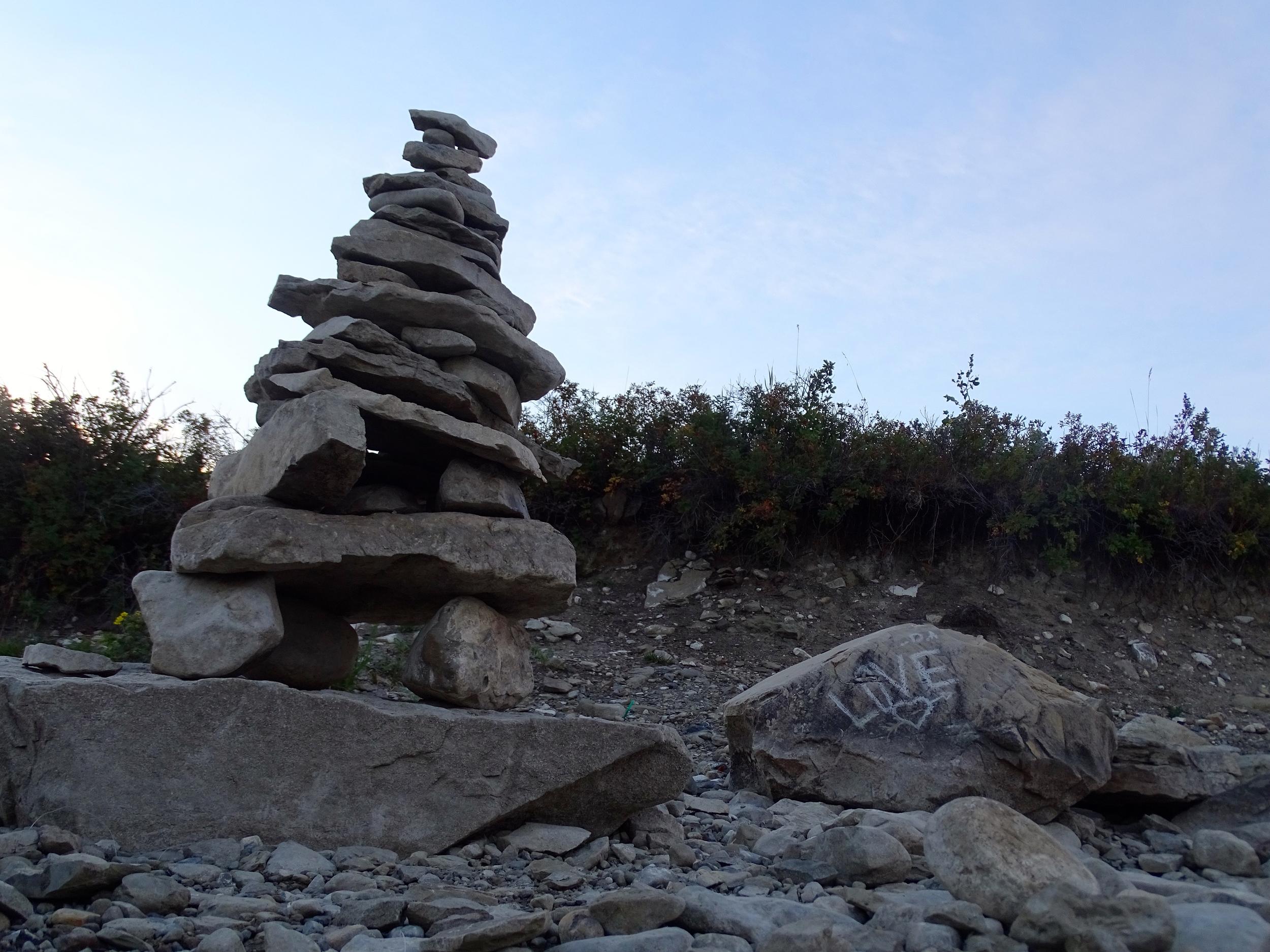 Cairn at Chain Lake