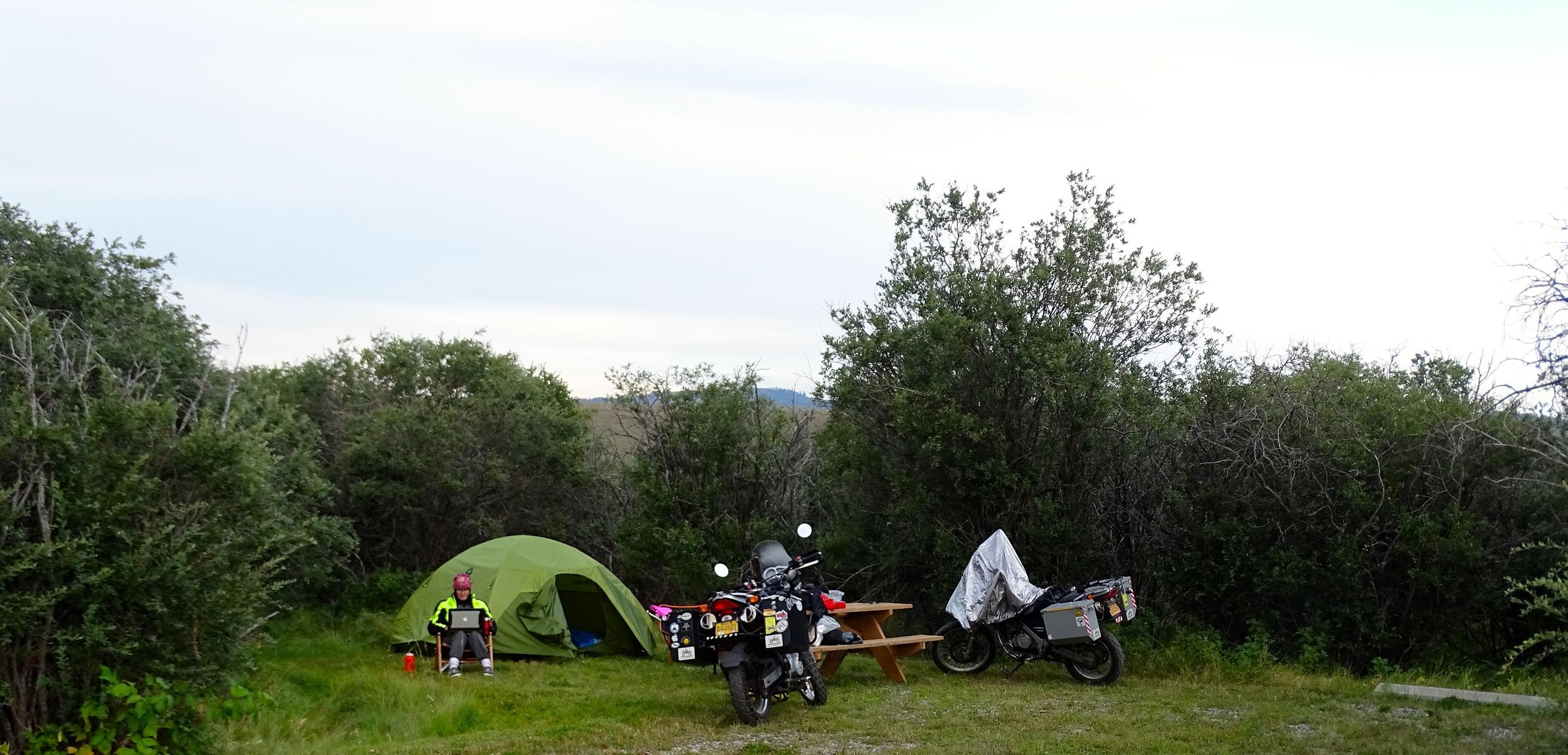 Camping at Chain Lakes Southern Alberta