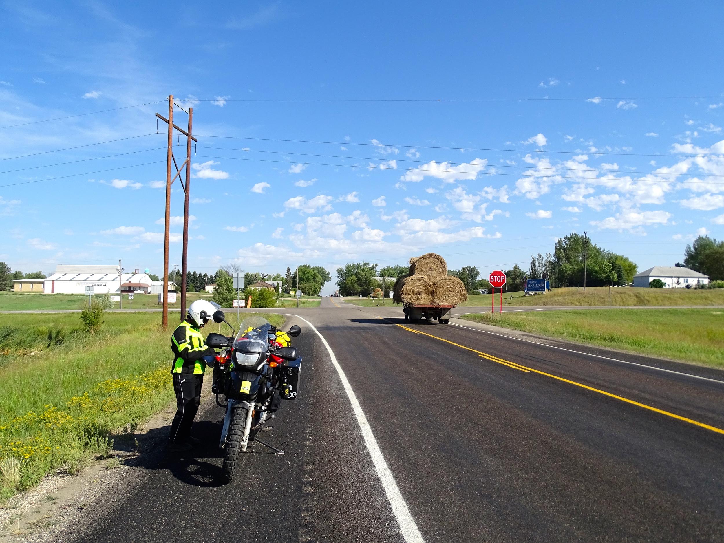 On the road toward Minnesota.