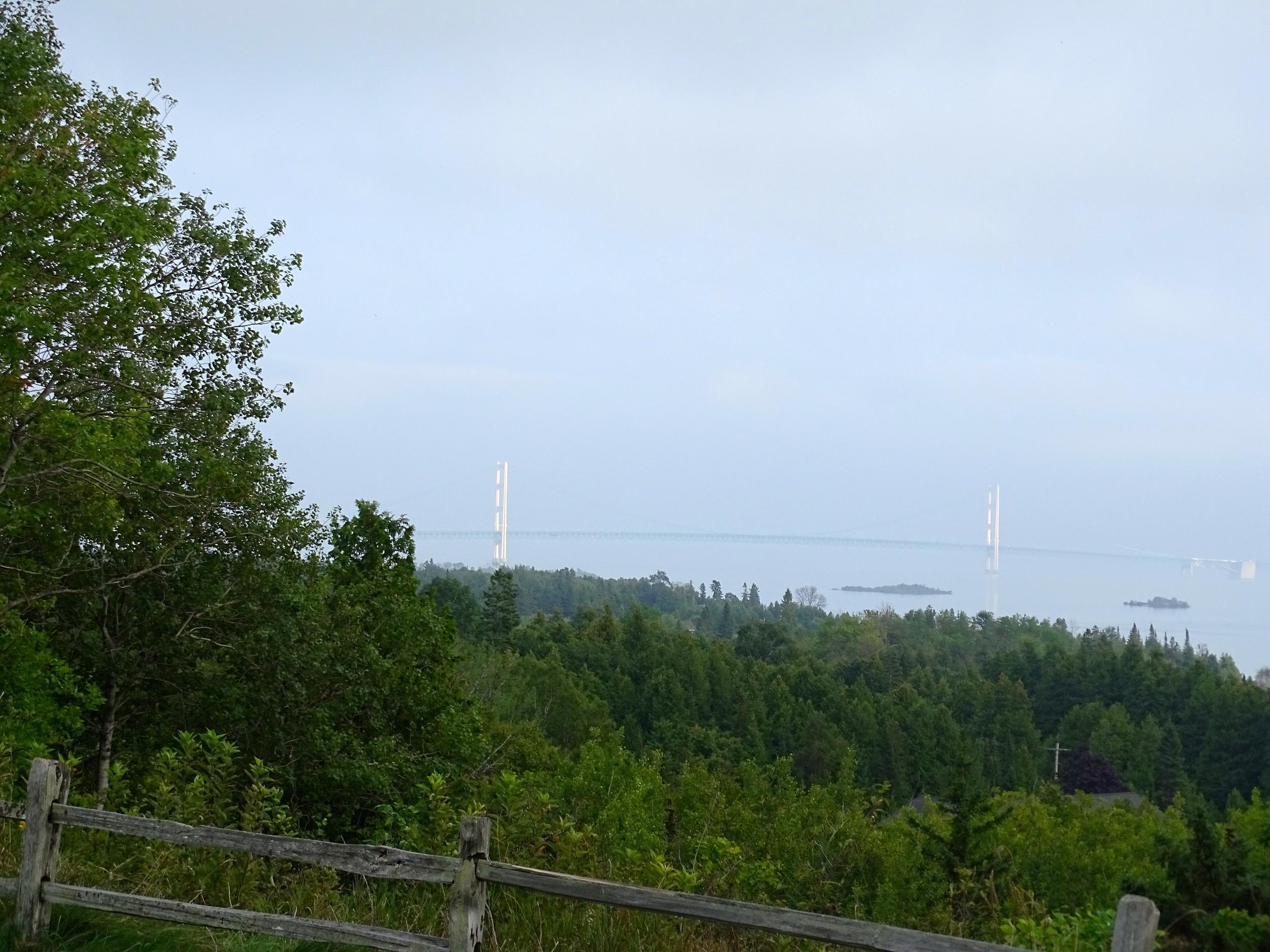 Big, gorgeous bridge over Lake Michigan