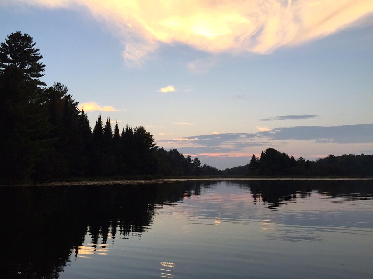 Gorgeous, calm, black lake.
