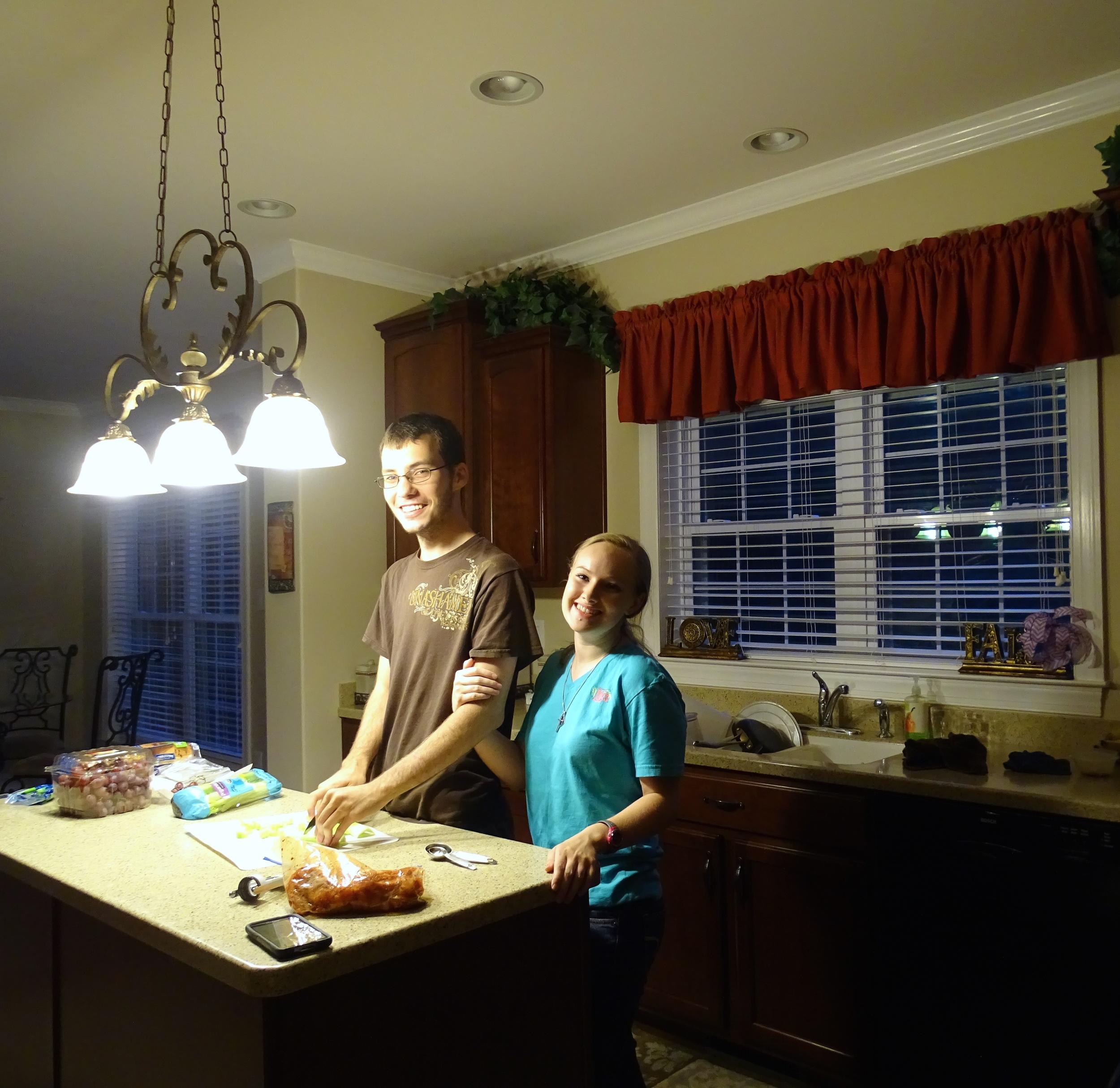 Zach & Danielle Making Dinner