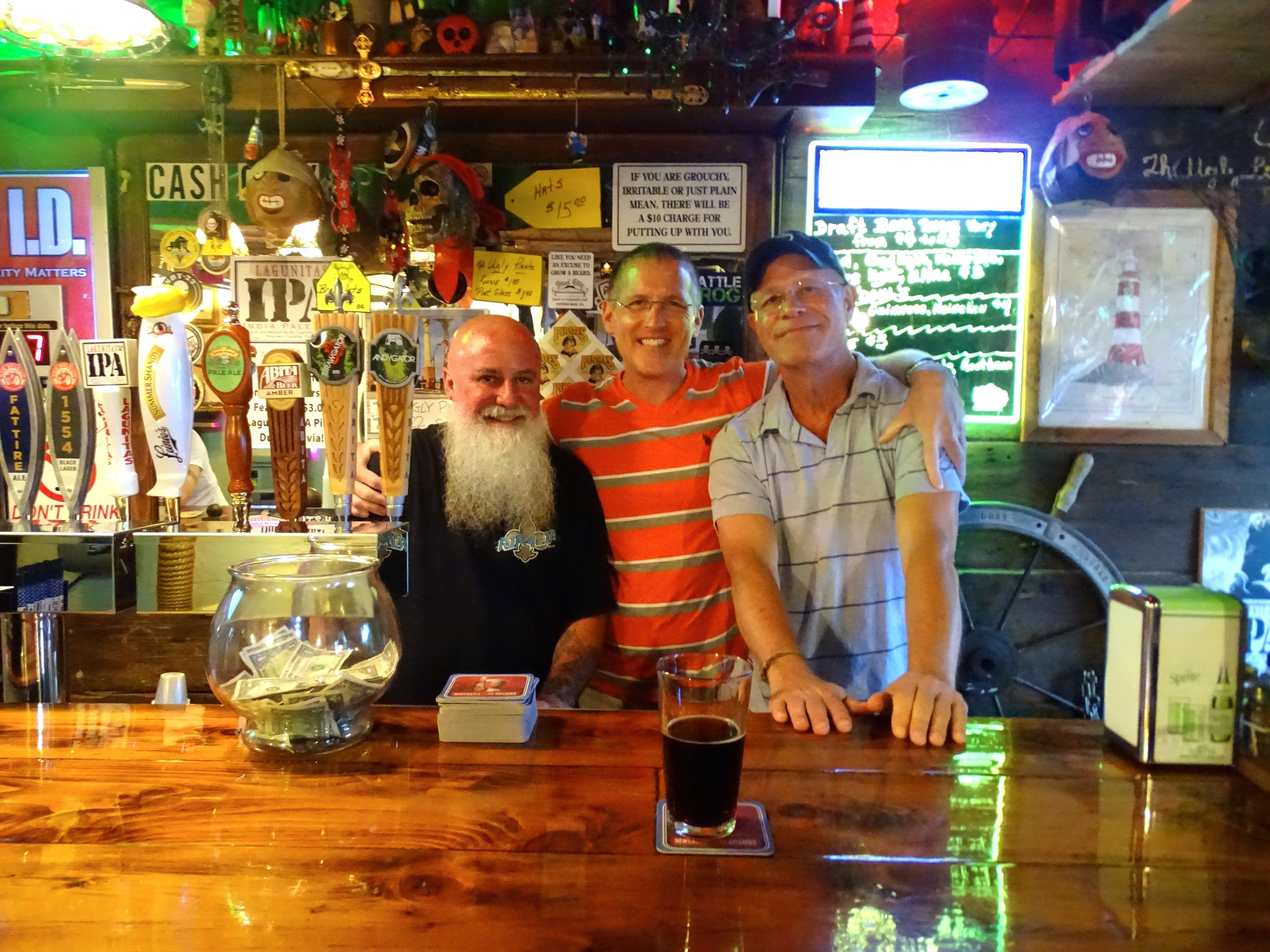 New friends at The Ugly Pirate.