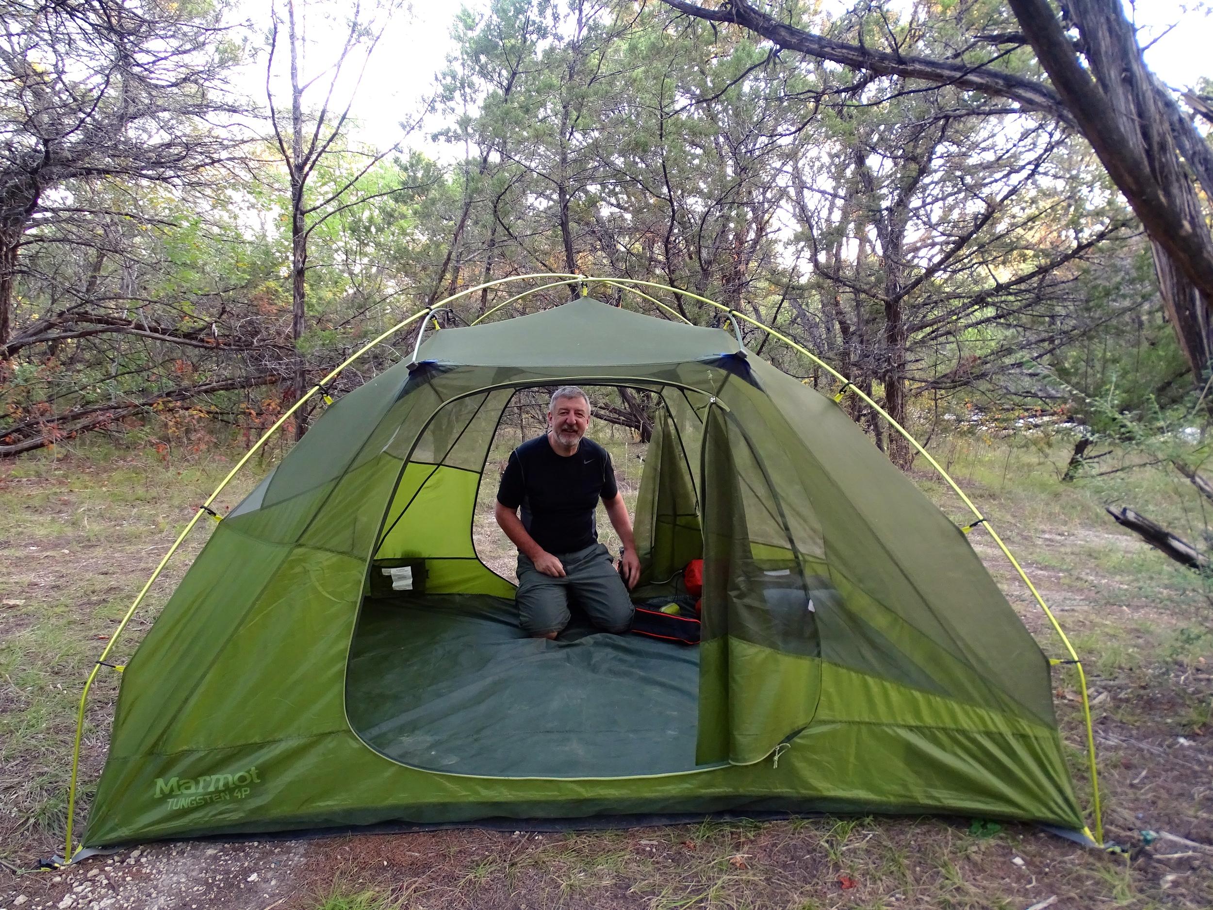 Settin' up camp.