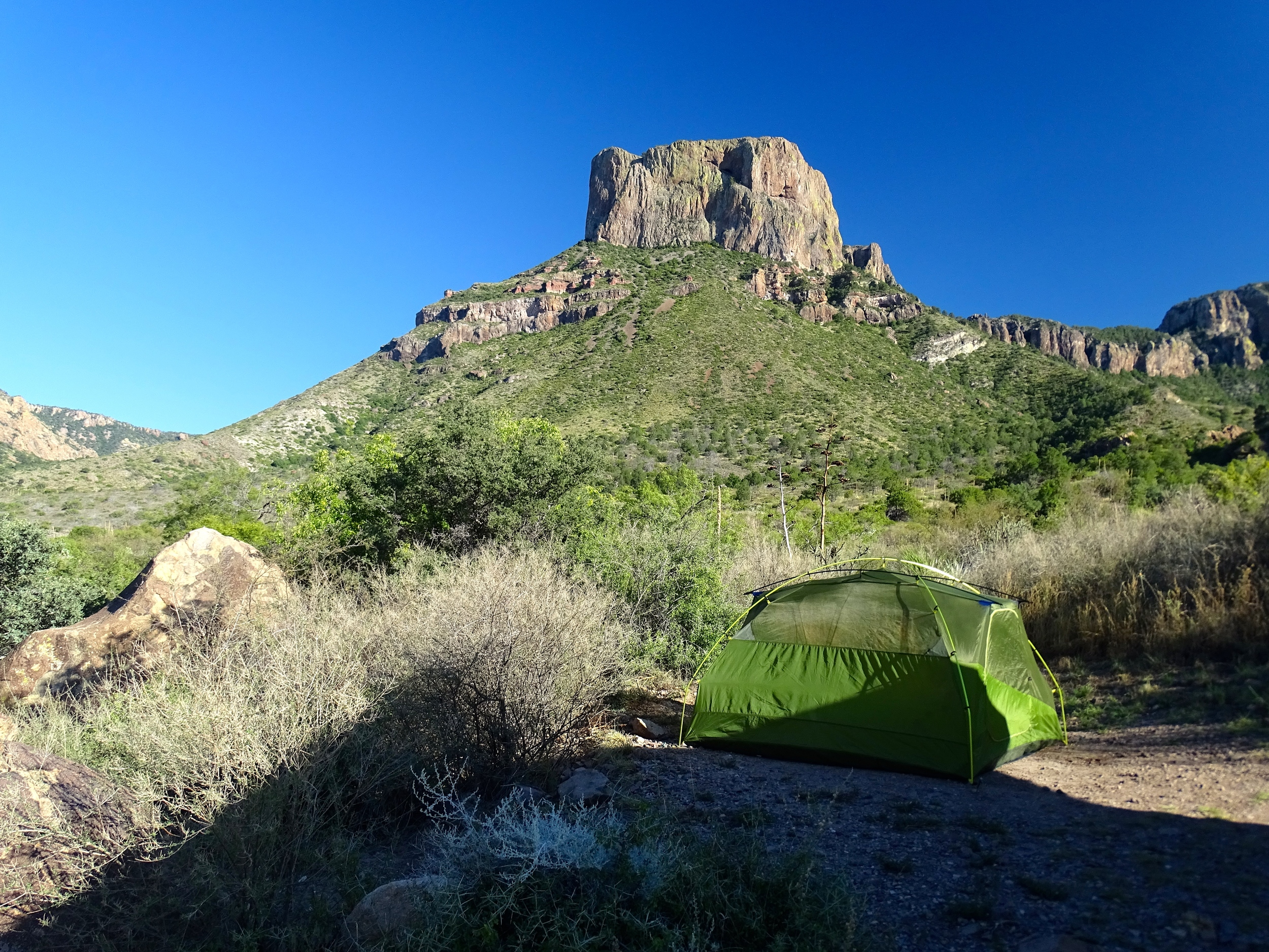 The view from our camp spot continually amazed me.