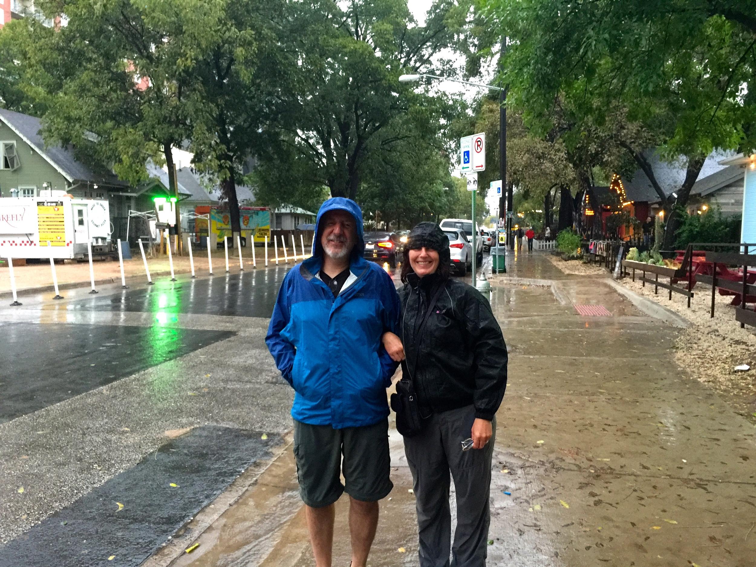 Raining on Rainey Street