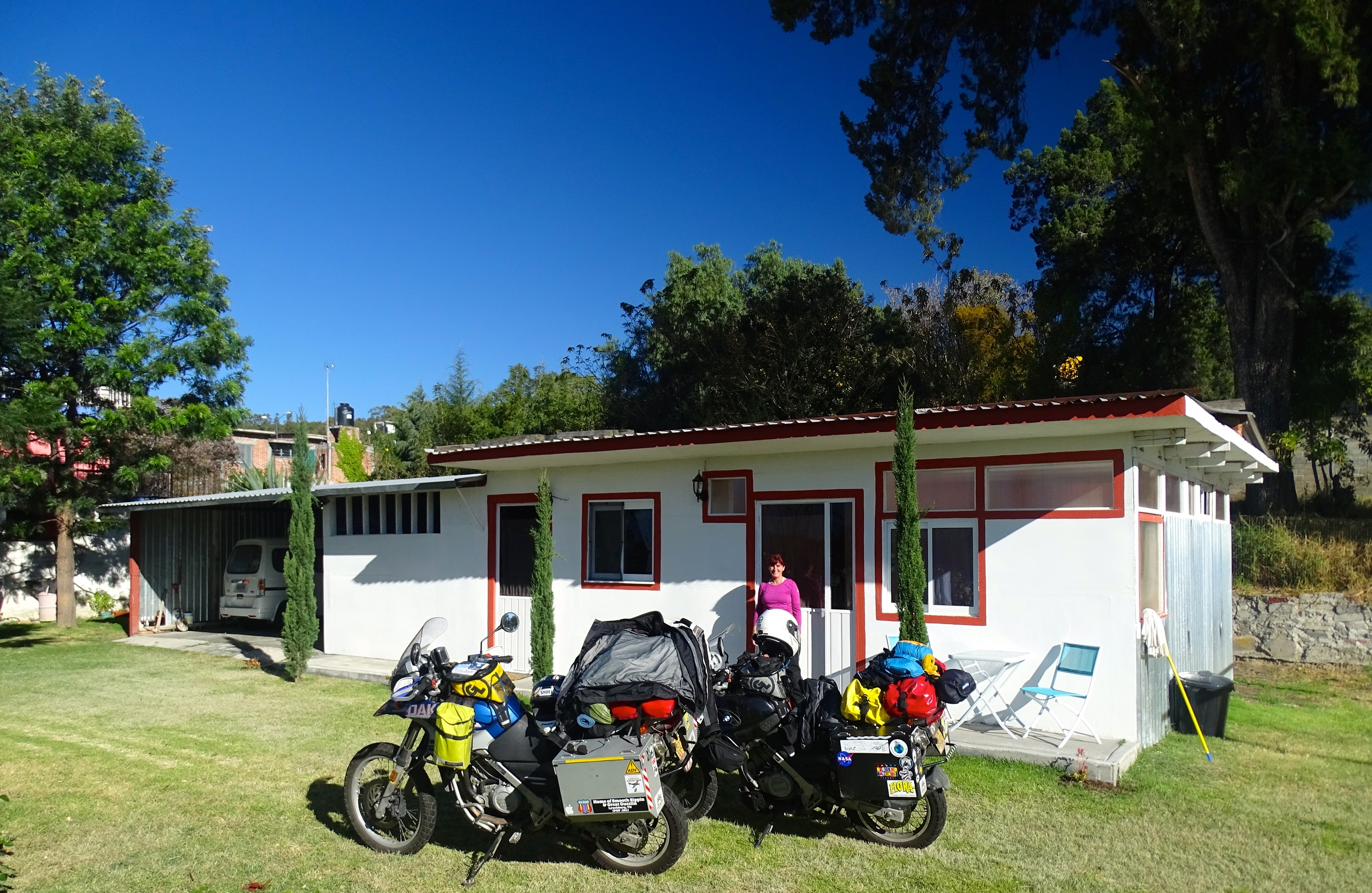 Our home for a week in Tlaxcala with Airbnb hosts Sharon and Jaimie.