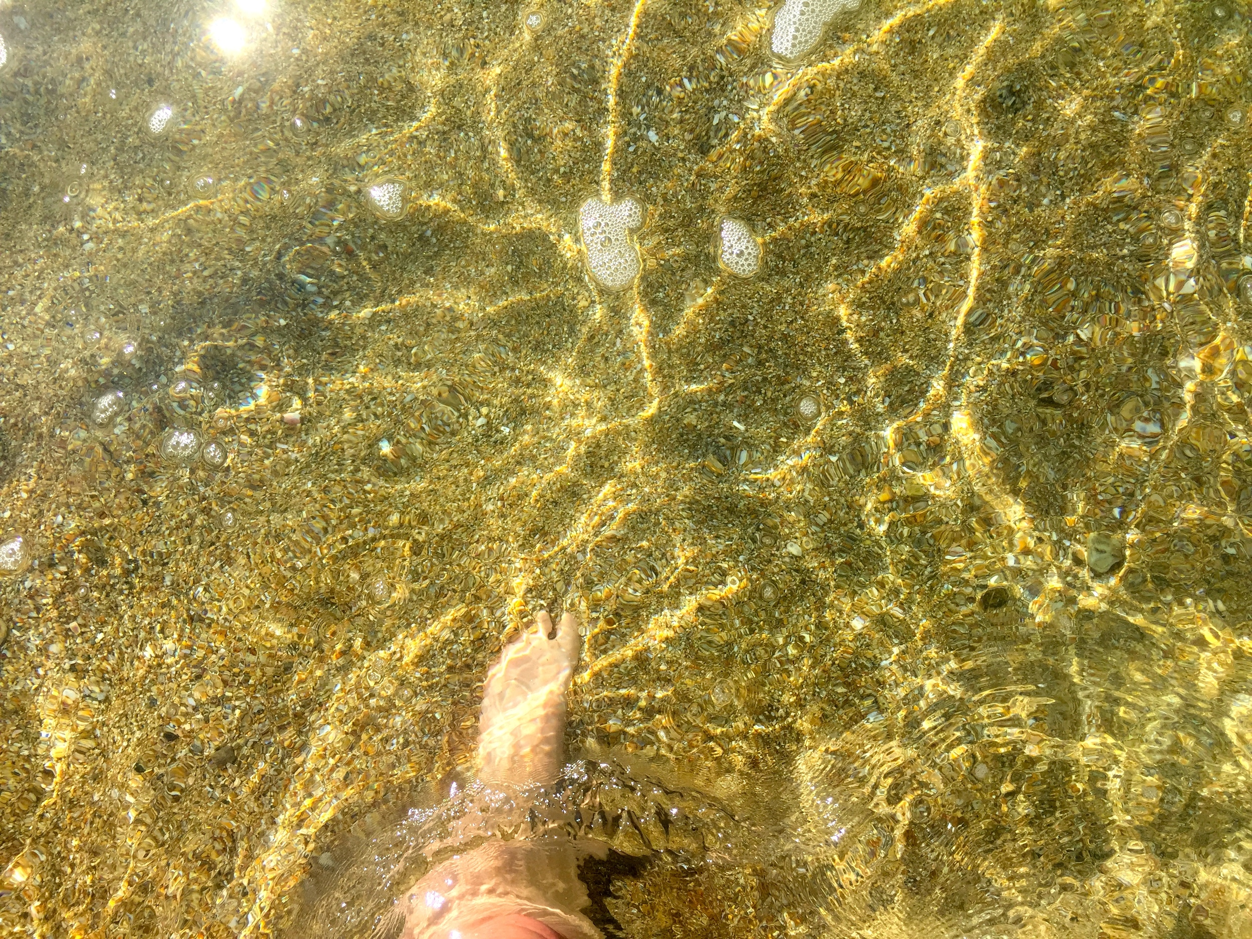 Check out that clear, warm water!