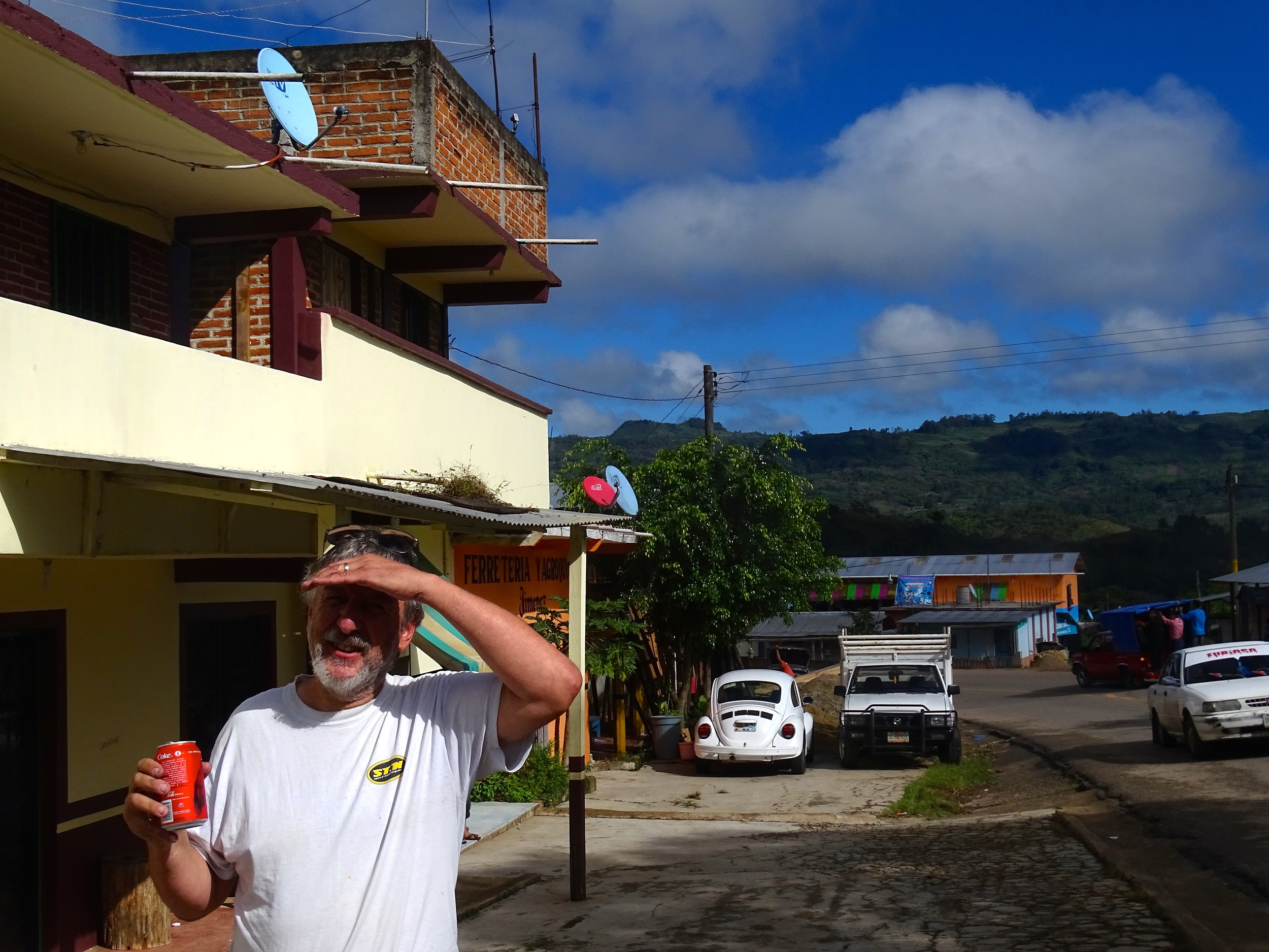 Break stop along the way to Palenque.