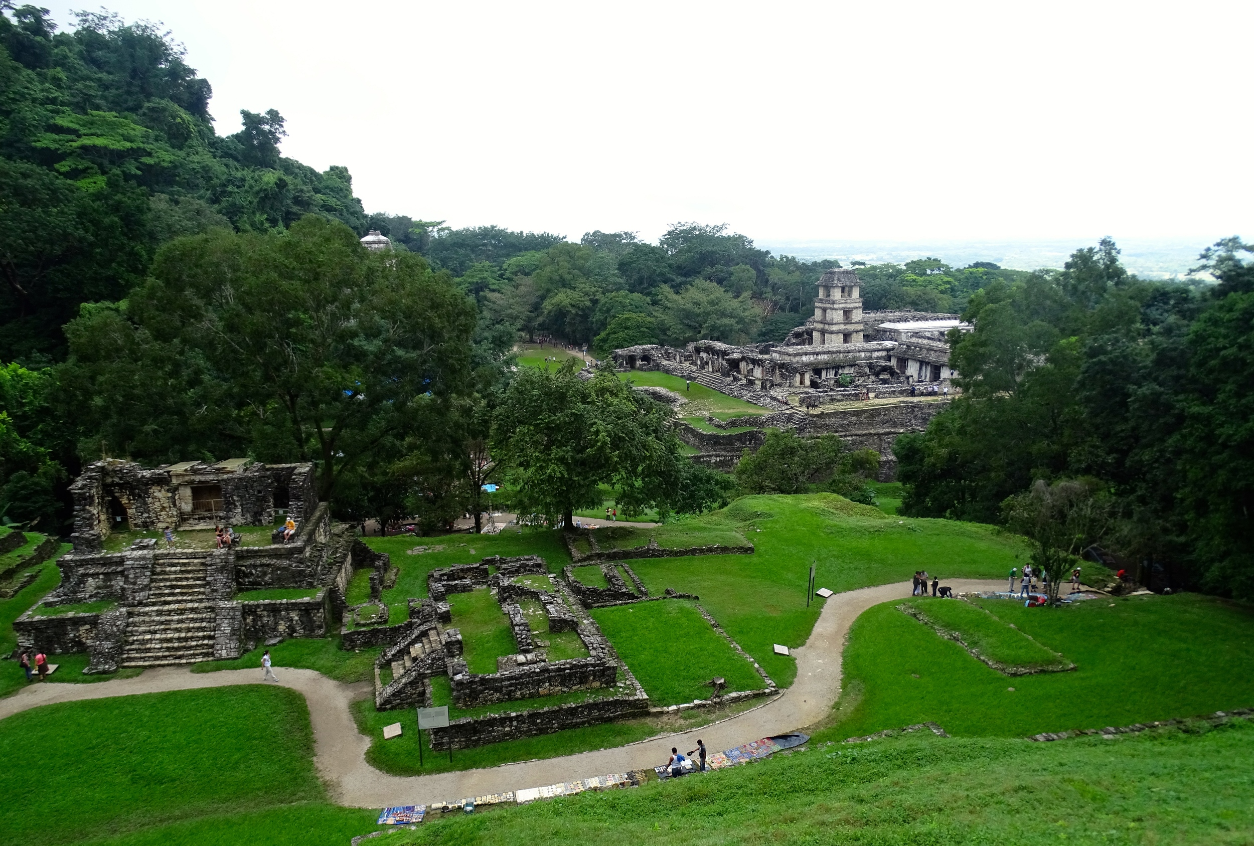 A small portion of the Palenque ruins.