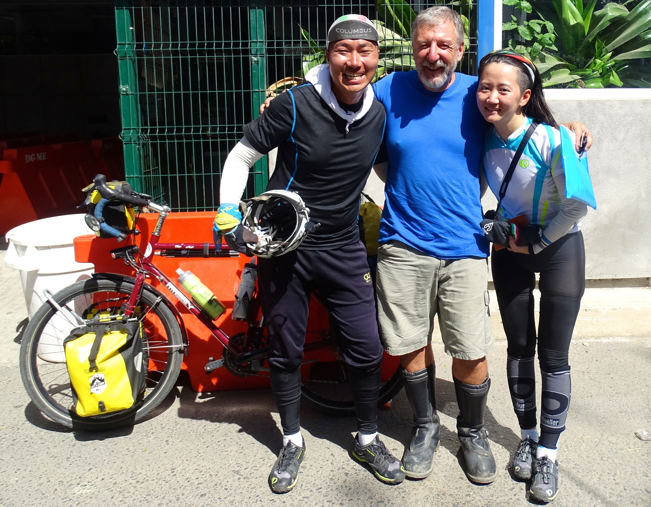 Meeting South Korean Bicyclists at the Border