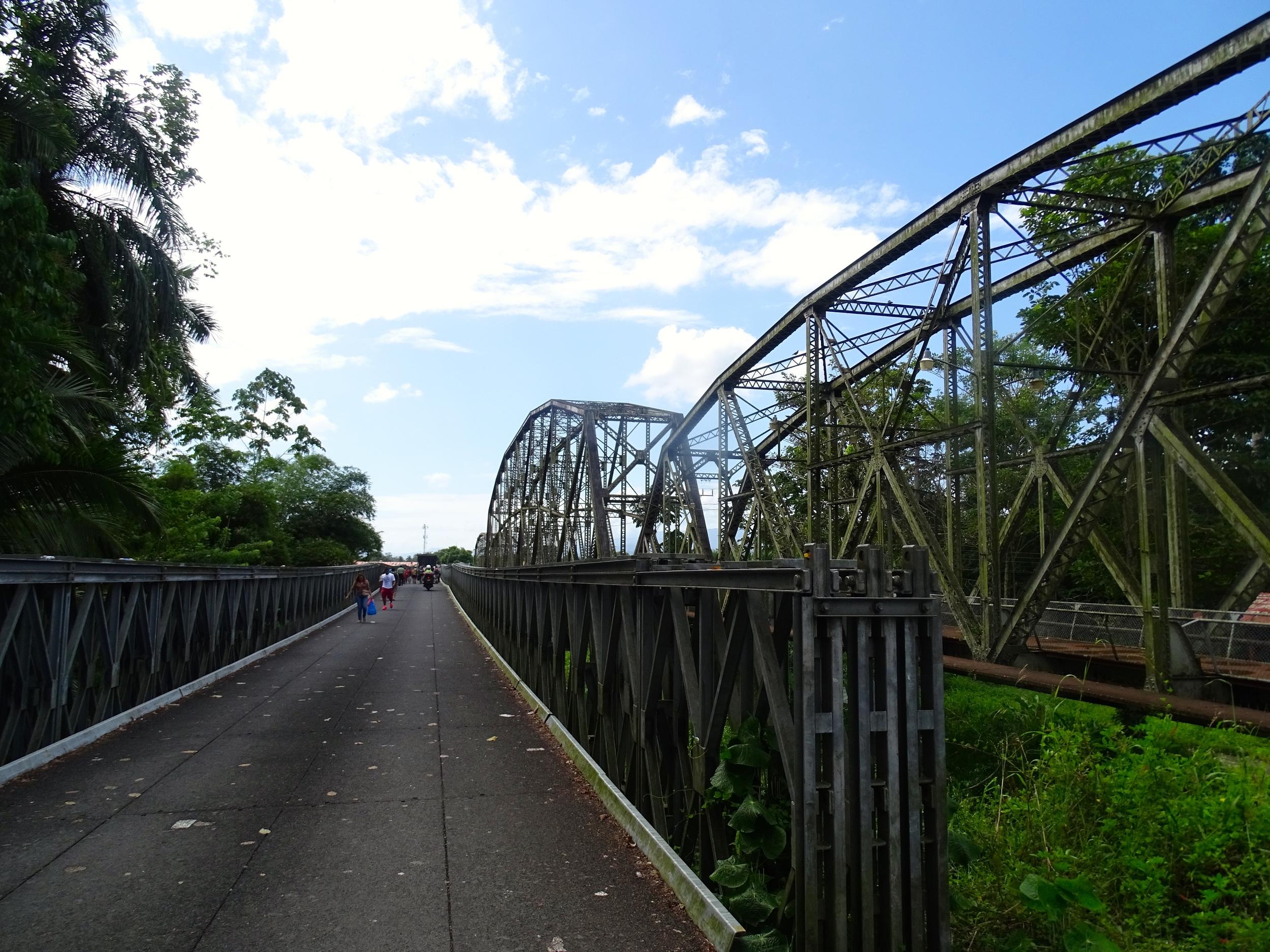 New bridge from Costa Rica to Panama.