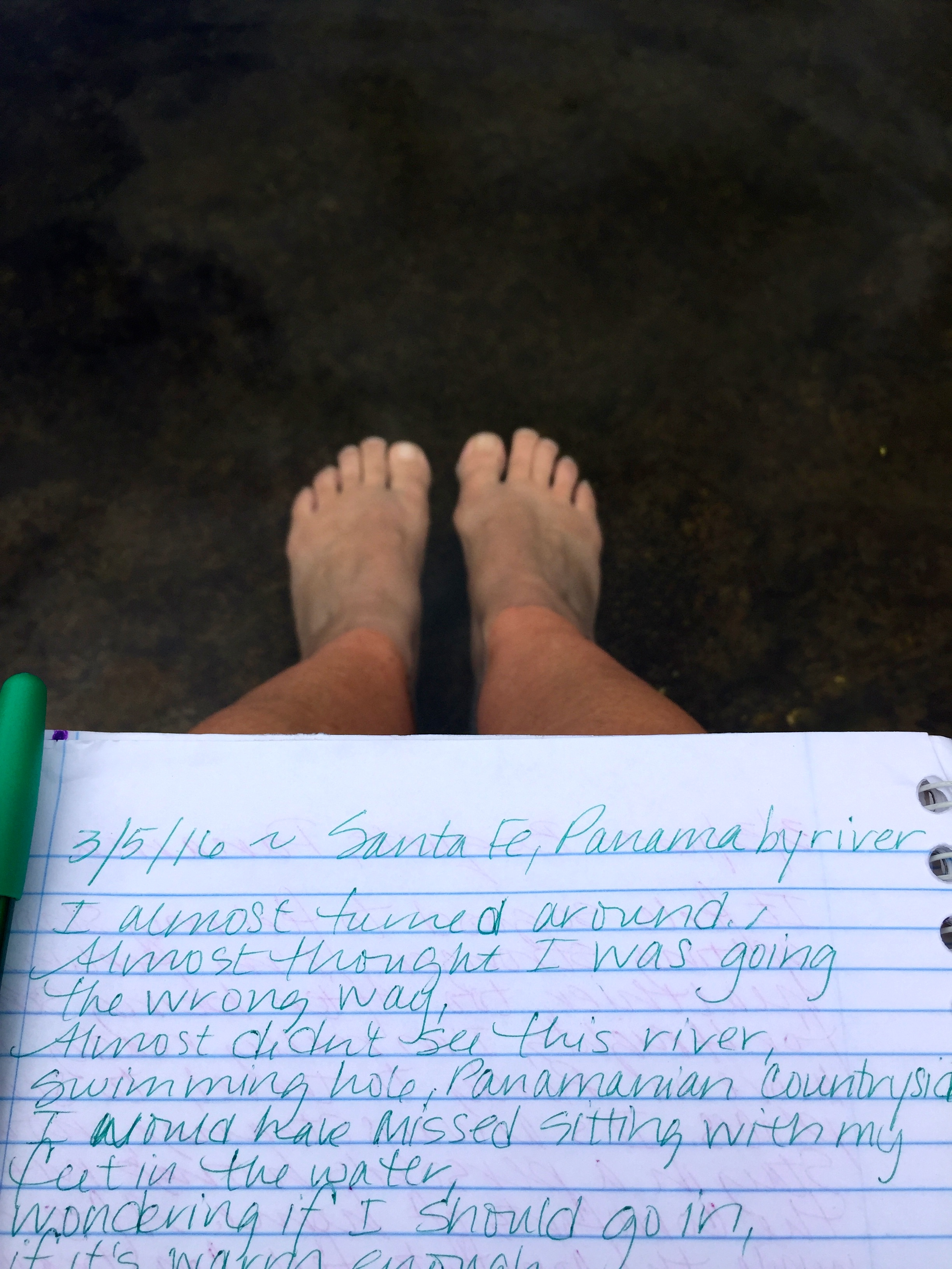 I sat by the river and ended up writing a poem.