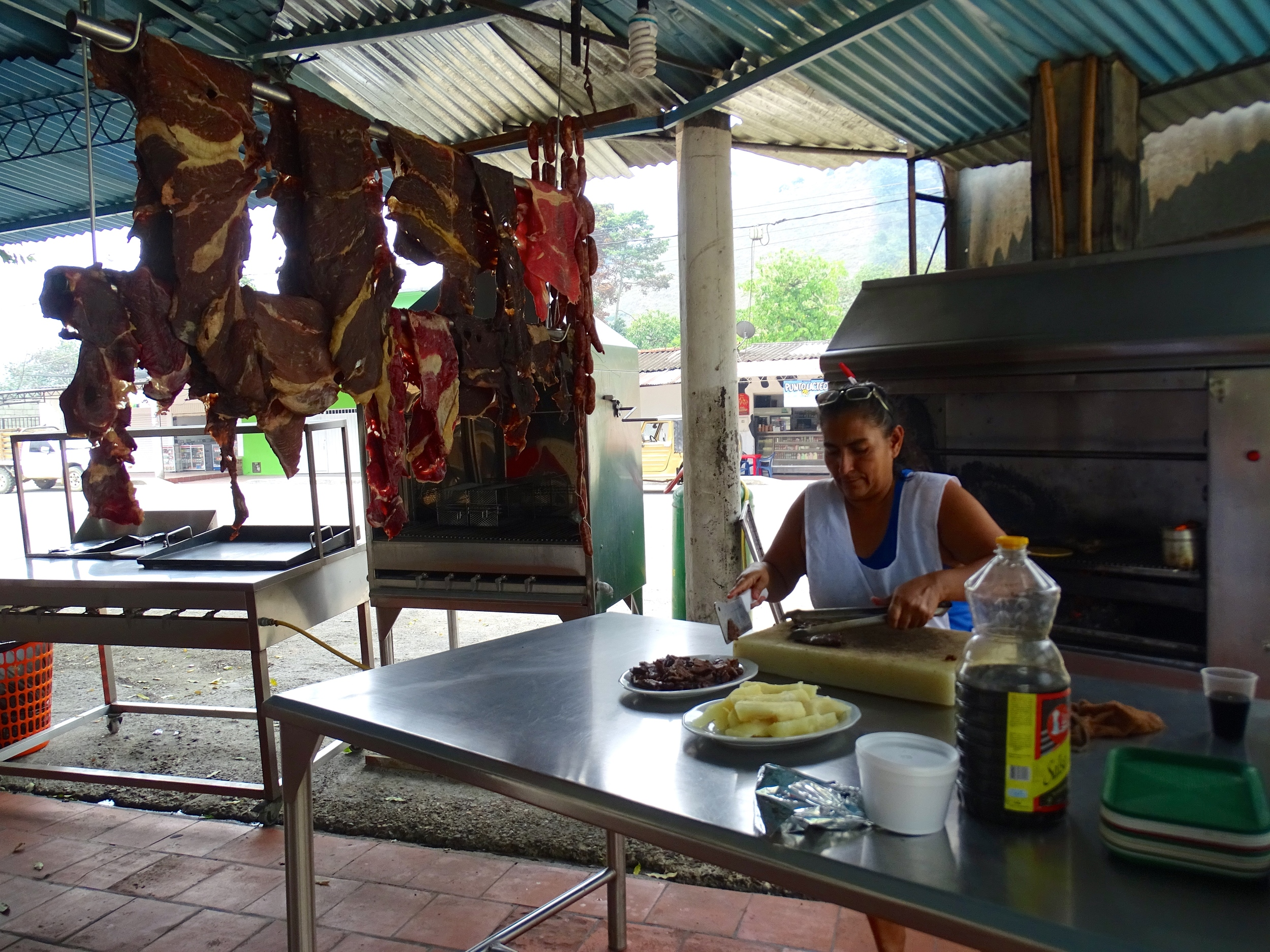 Lunch on the road to Santa Marta.