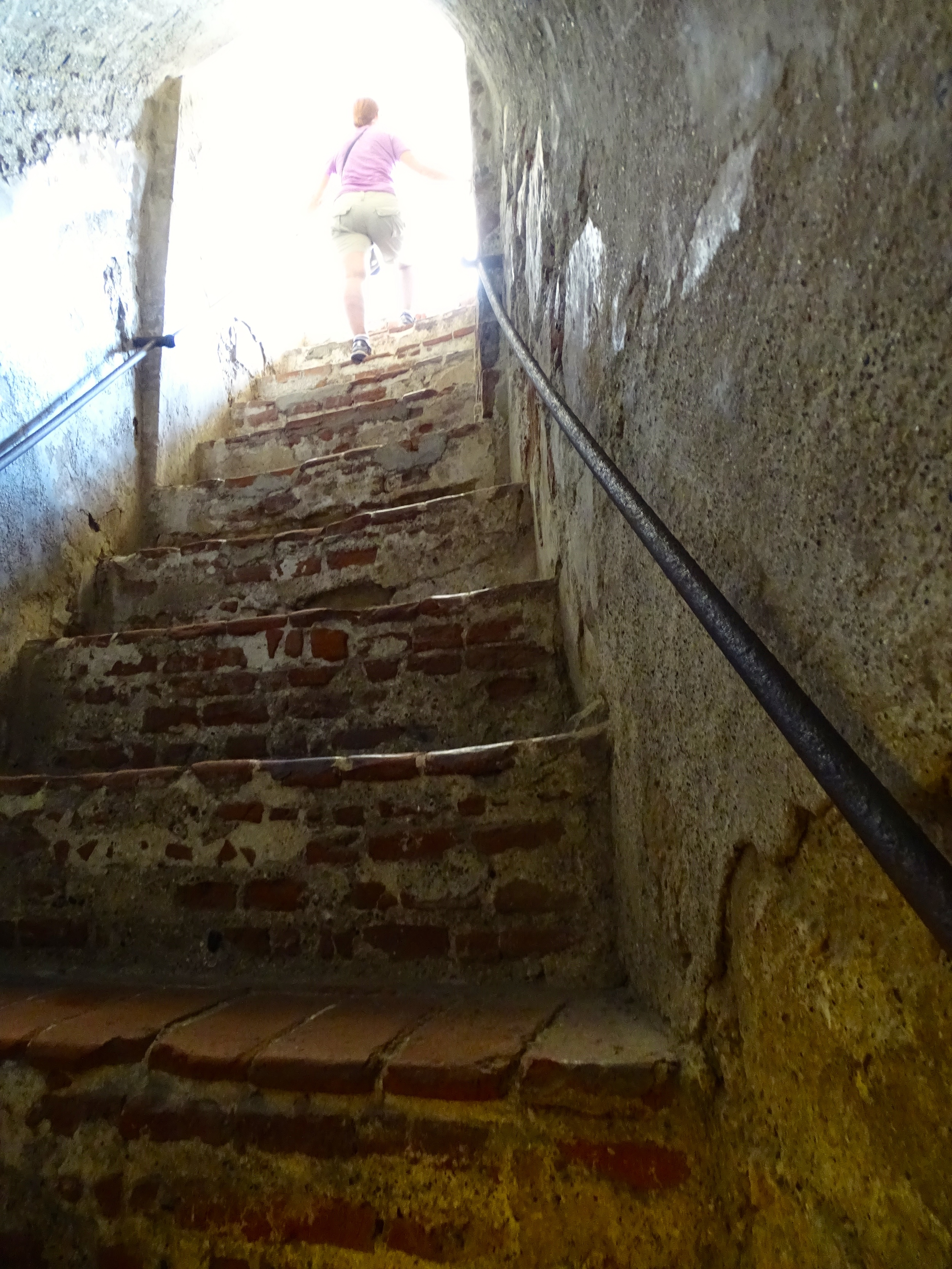 Steep steps led in and out of the tunnels.
