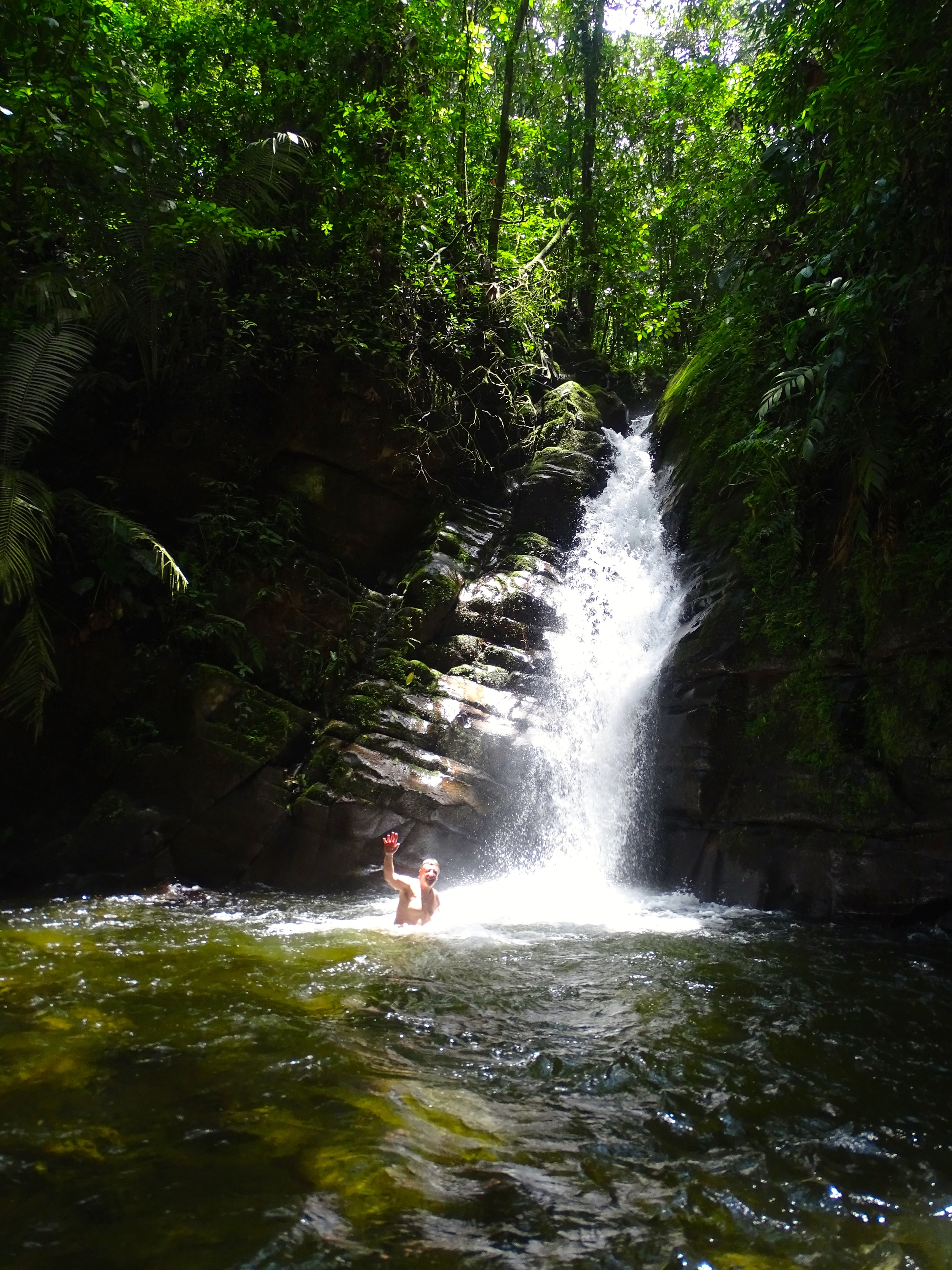 The reward was a dip near the waterfalls. Sweet!