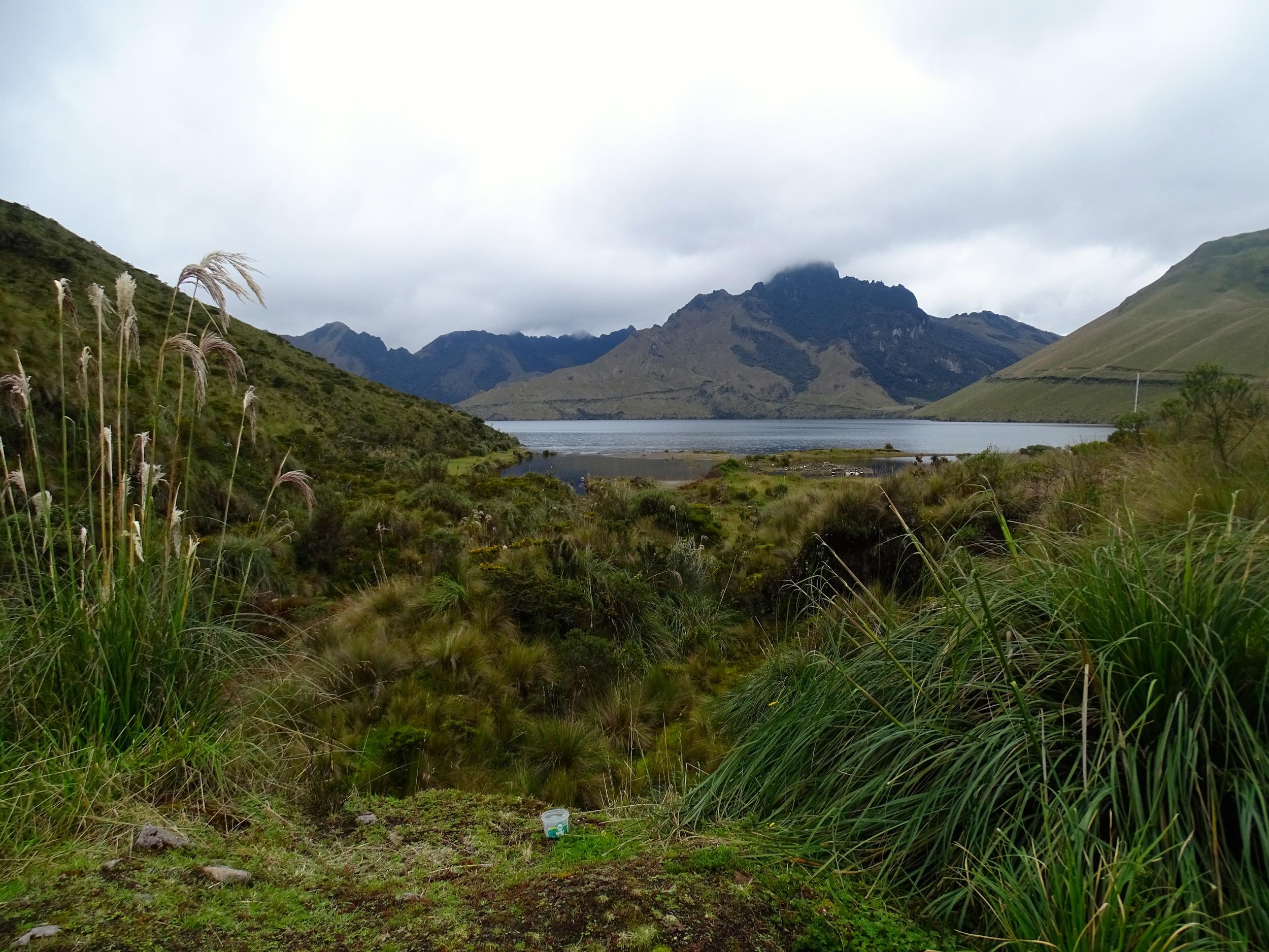 Lake Mojanda at 14,000' elevation