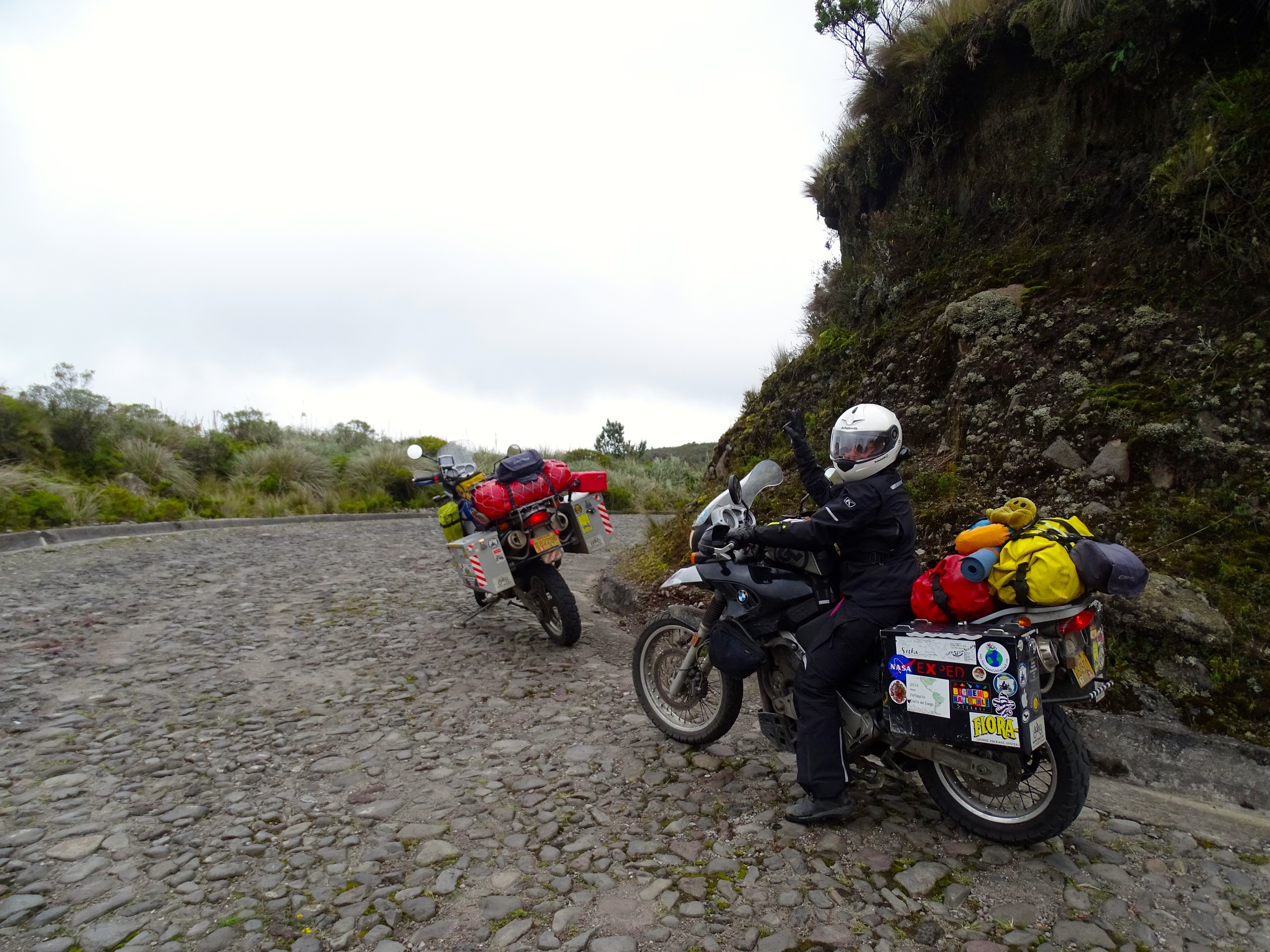 Time to leave the high mountain lake an Otavalo.