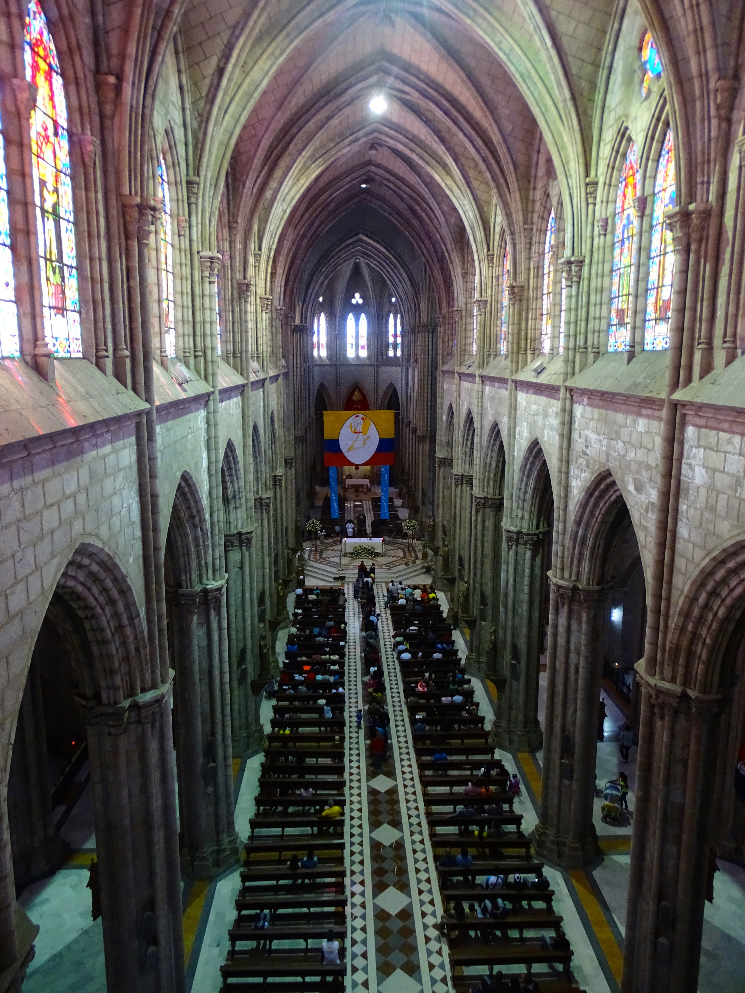 Here's the inside of the church.