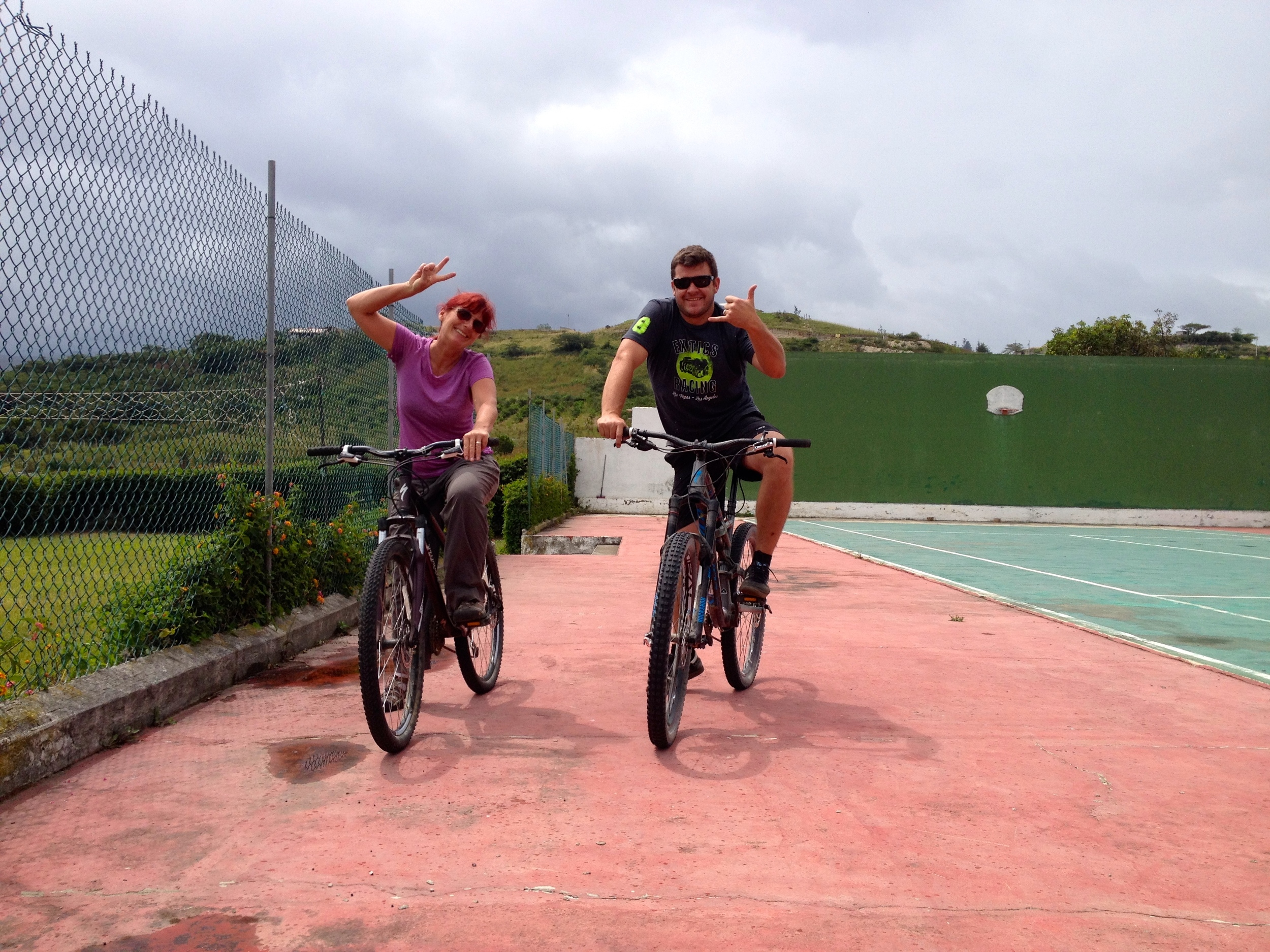 I got to go for a mountain bike ride up the mountain with Felipe.