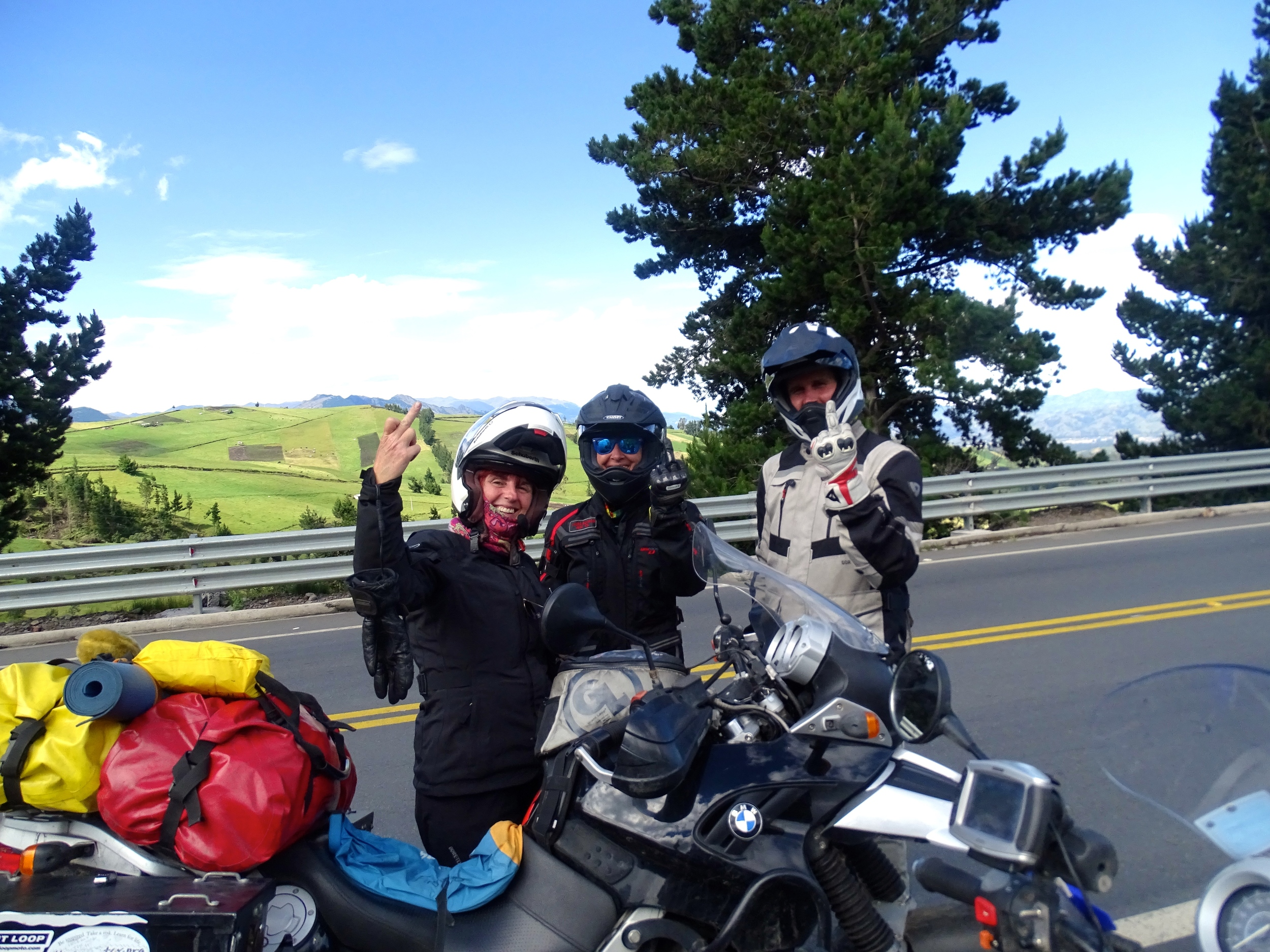 """There's a story. This is the Adventure Rider """"salute!"""""""