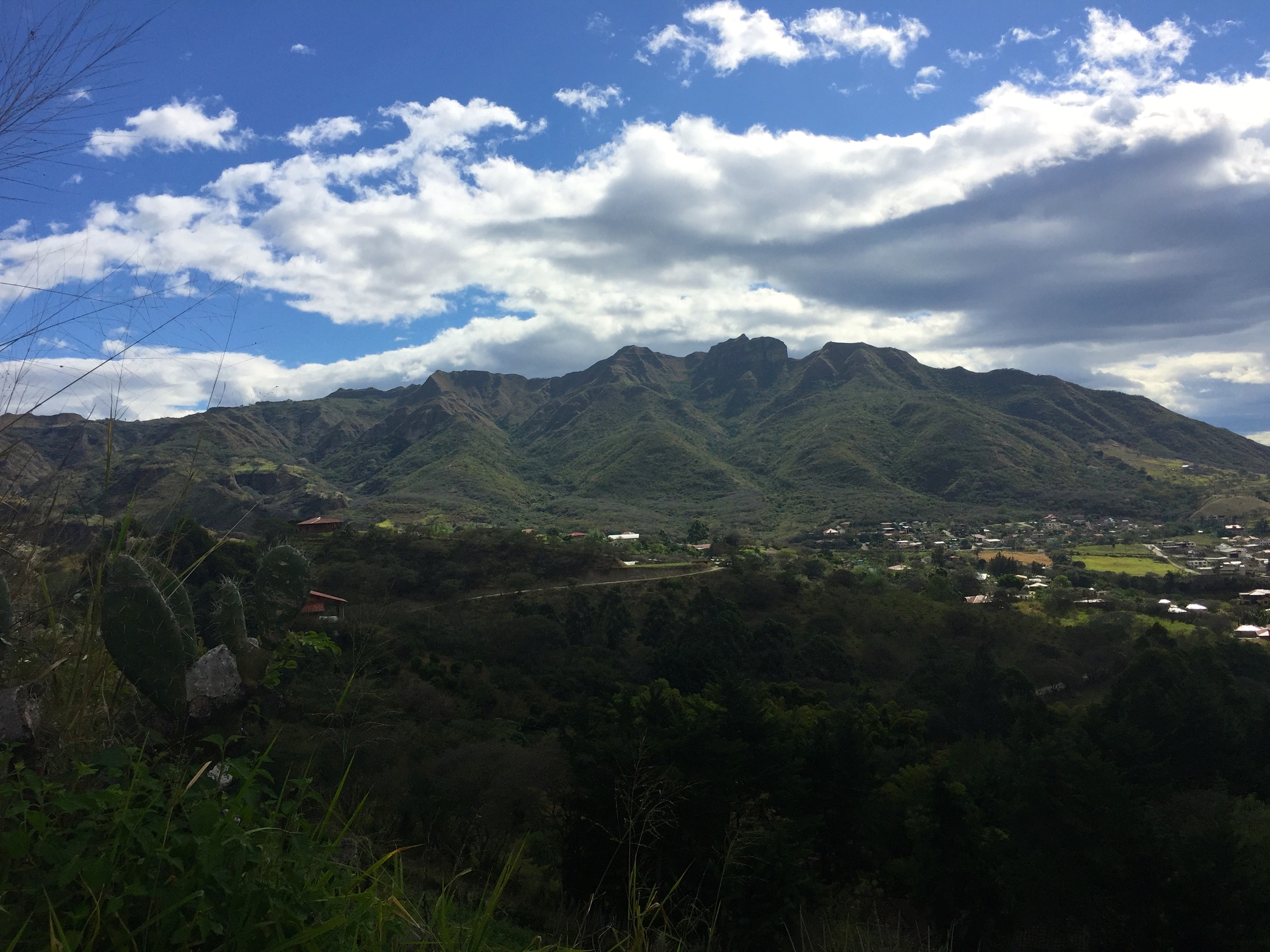 View of the town of Vilcabamba.