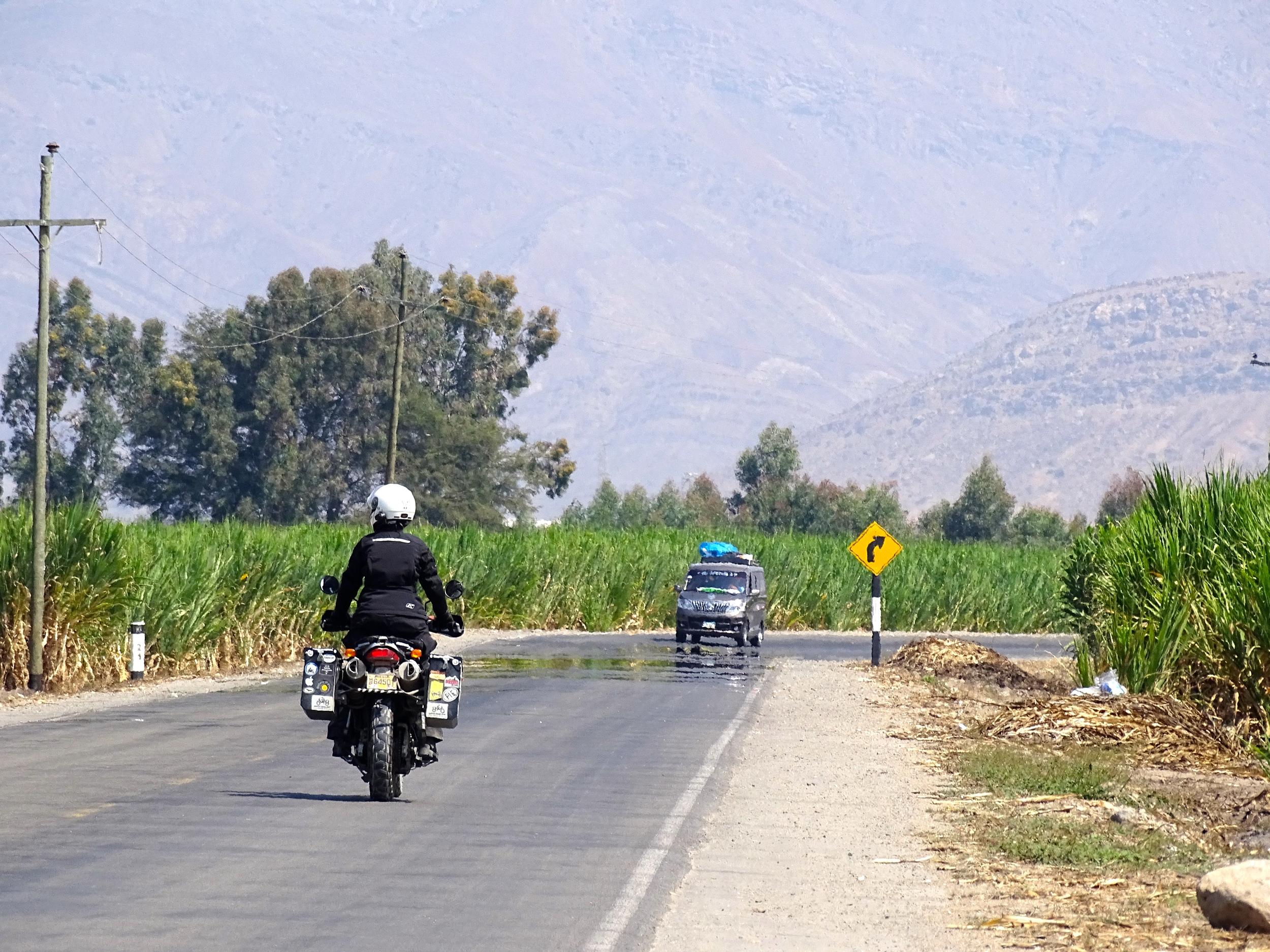 The road to Sipan, Ecuador.