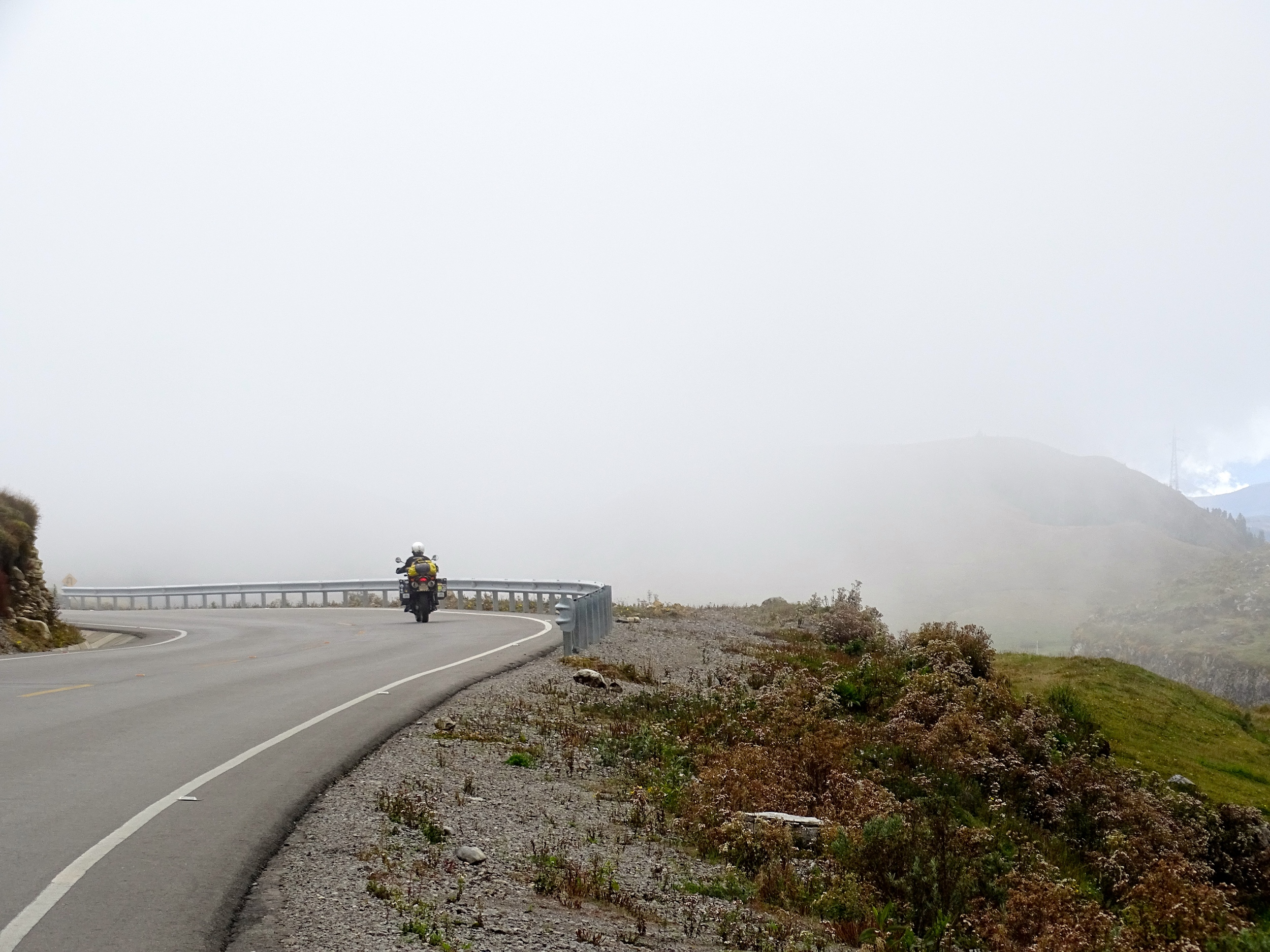 We climbed back into the mountains and some fog.