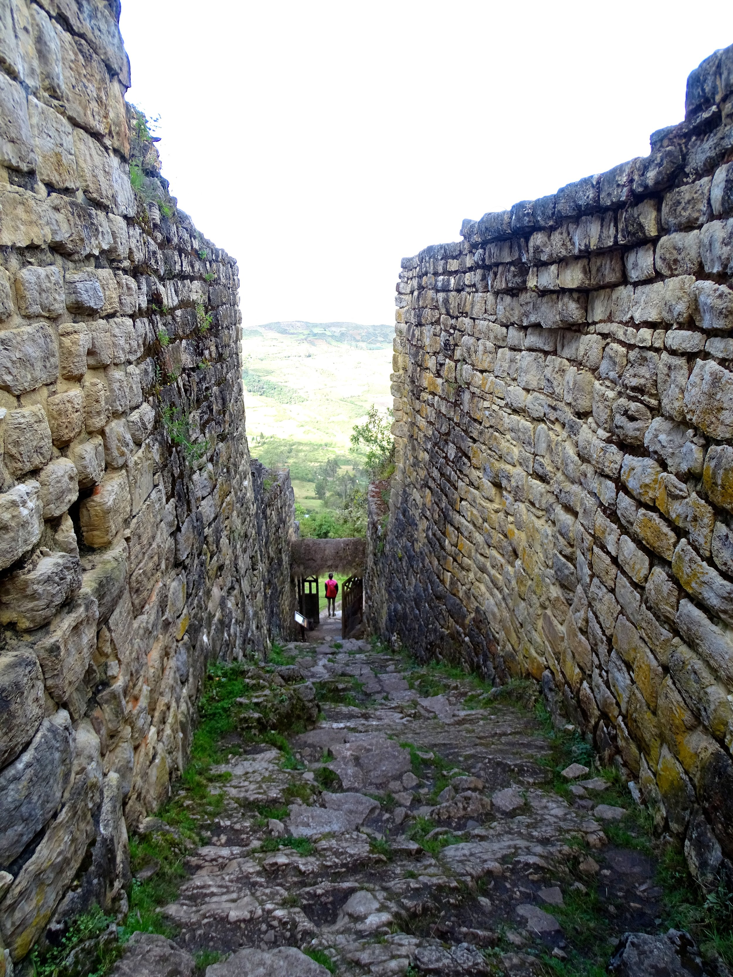 The view down through one of the main entrance passageways.