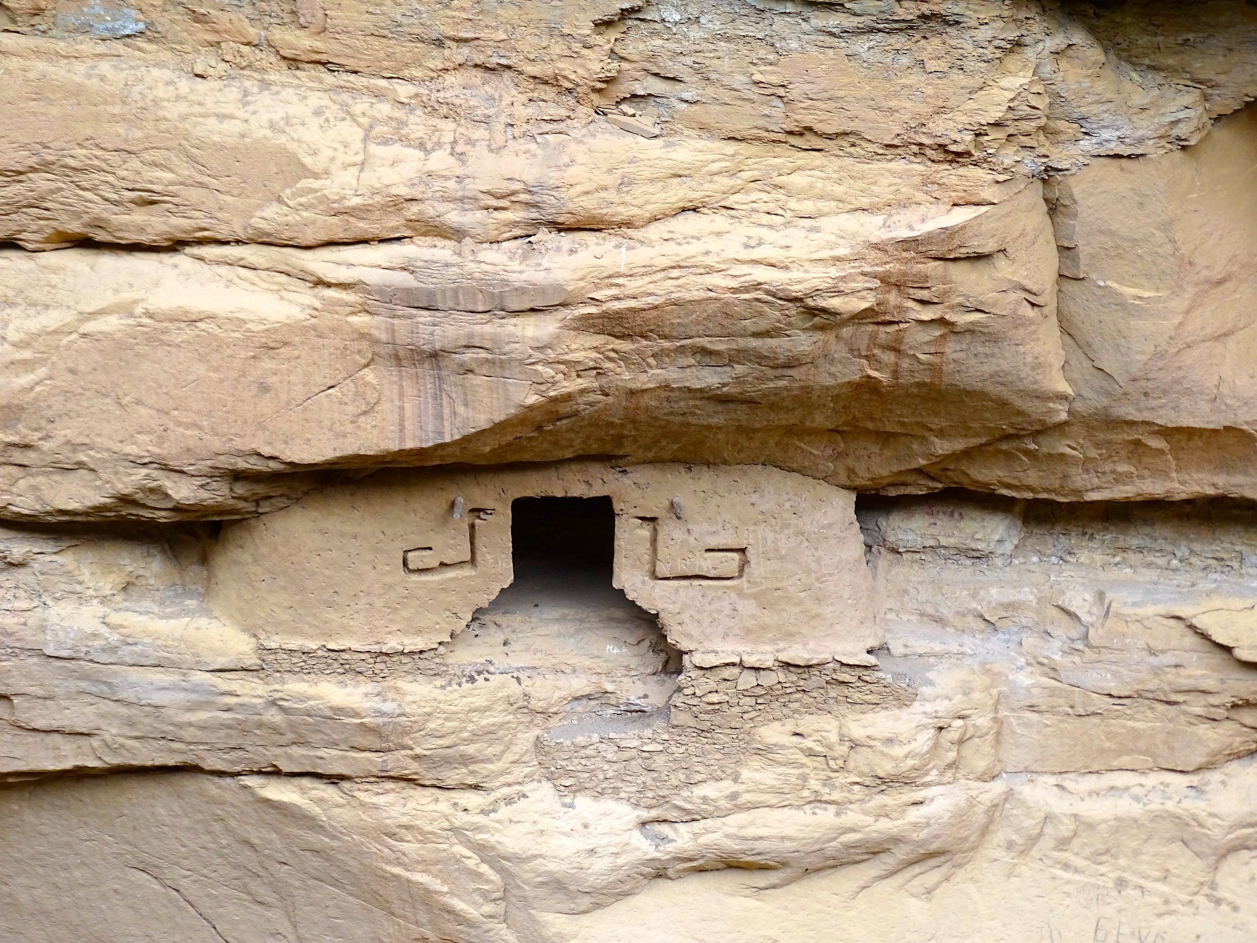This dwelling sat apart from the others, and may have been a shaman's residence.