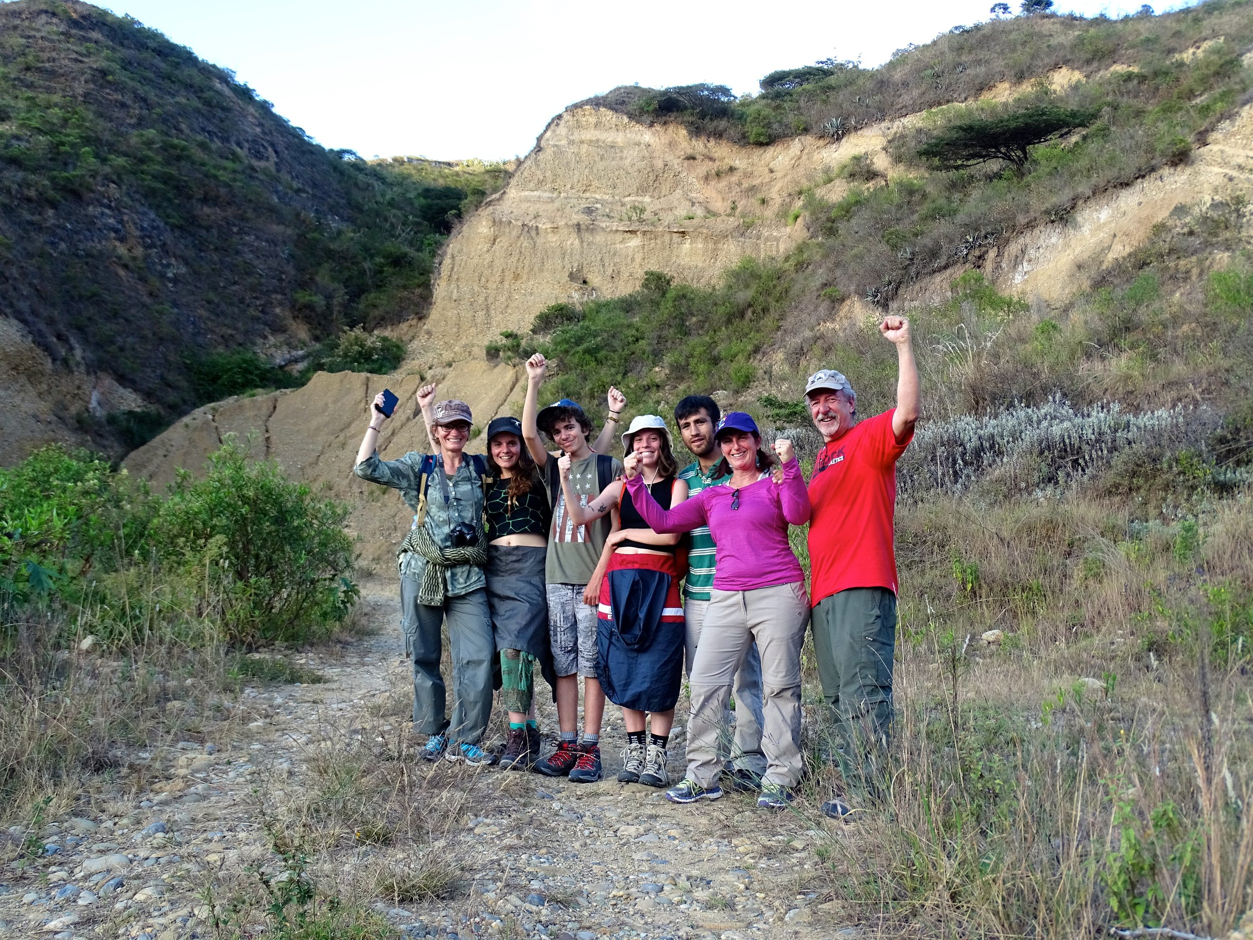 The gang after emerging out of the canyon that day.