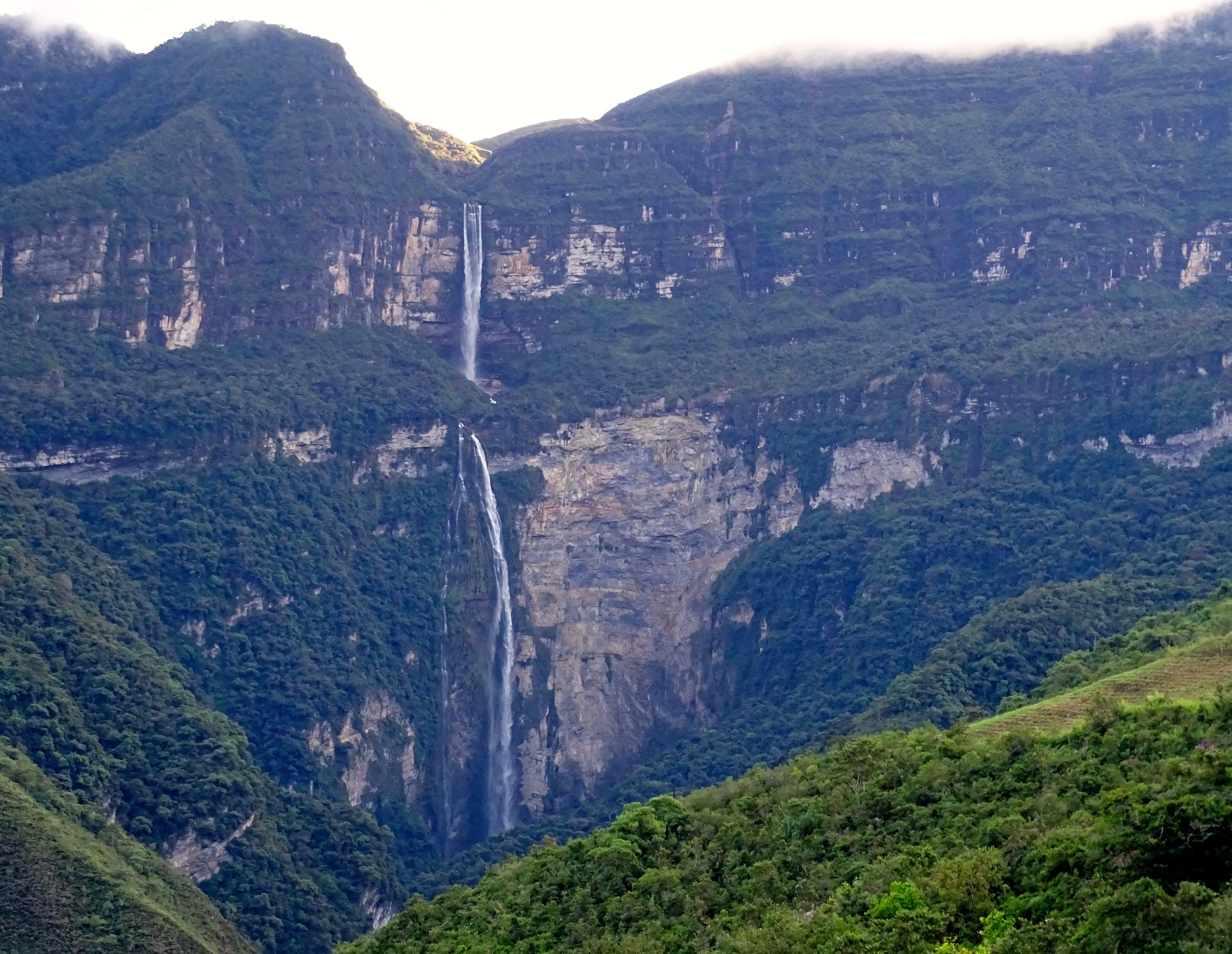 Gocta Falls, from about two kilometers distant.
