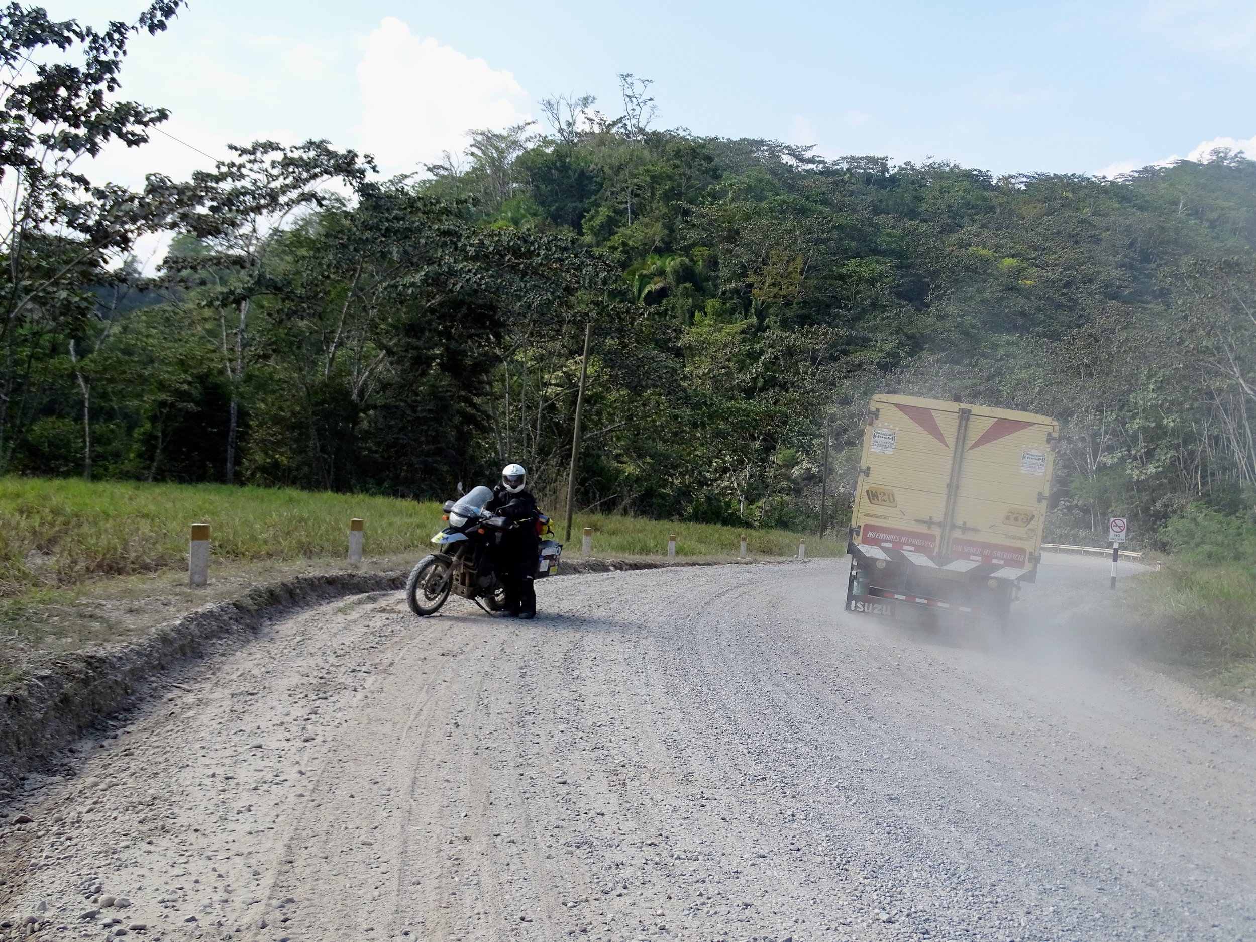 Riding on the good gravel road came with plenty of dust.