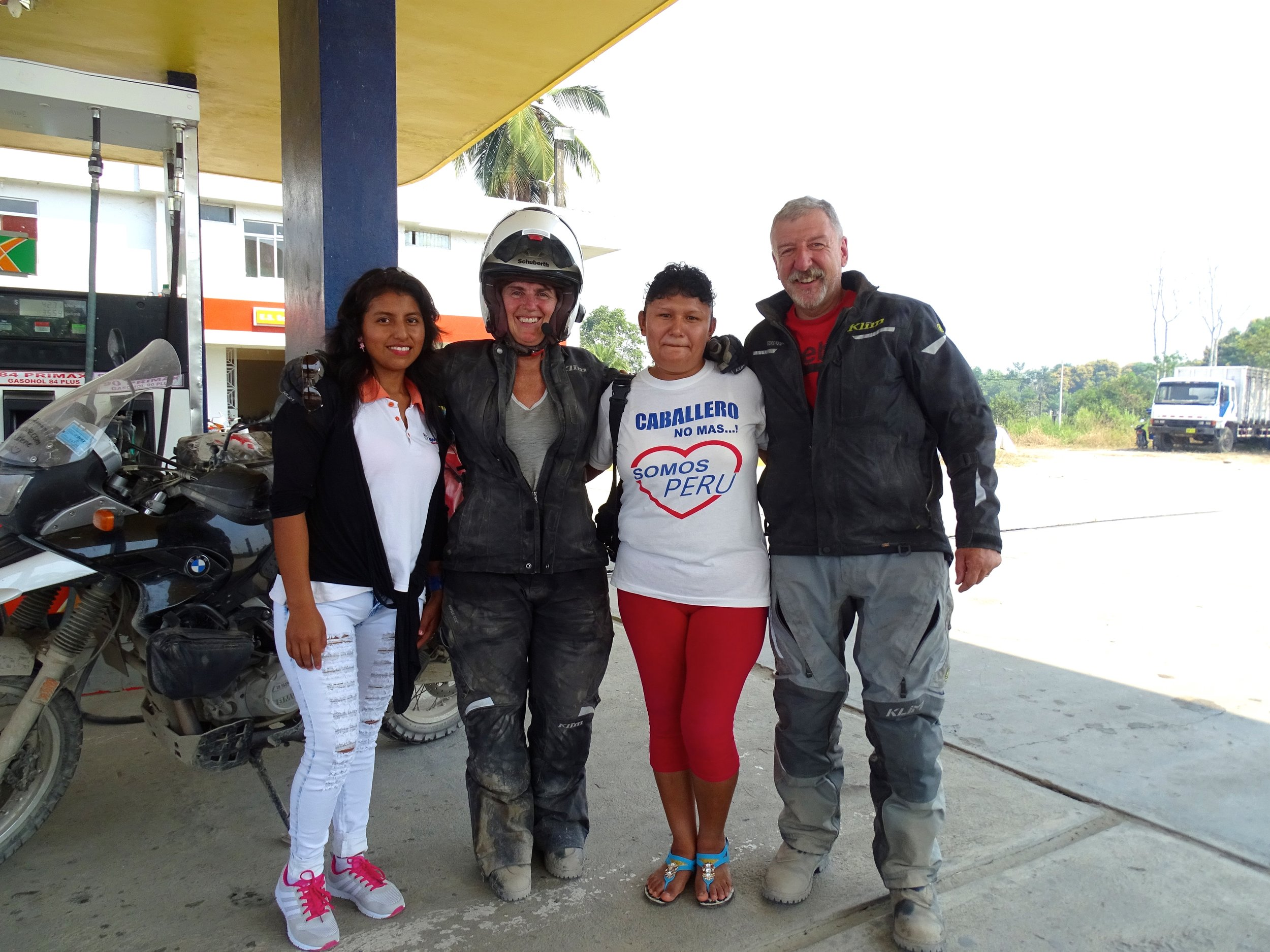 These folks at the gas station wanted to pose with us and take photos so, we played along with the smiling fun.