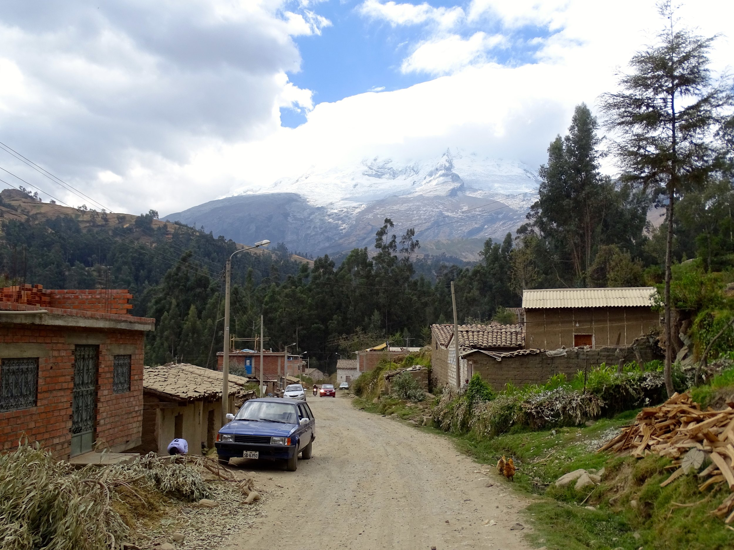 Country scene in the Andes of Peru.